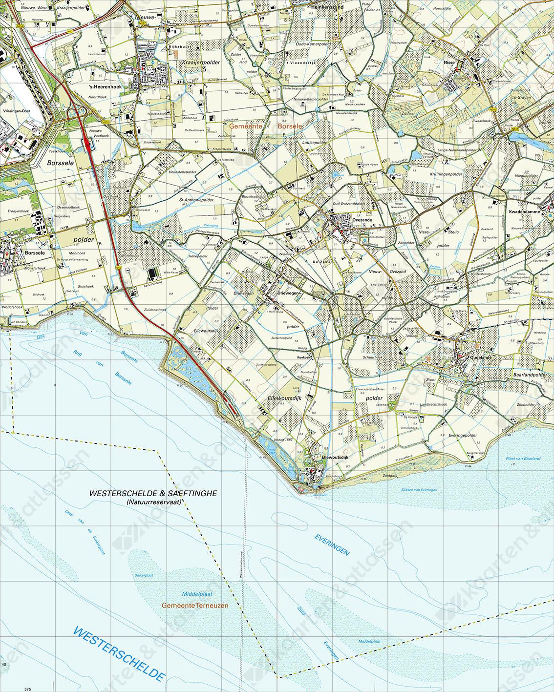 Topografische Kaart 48G Ovezande