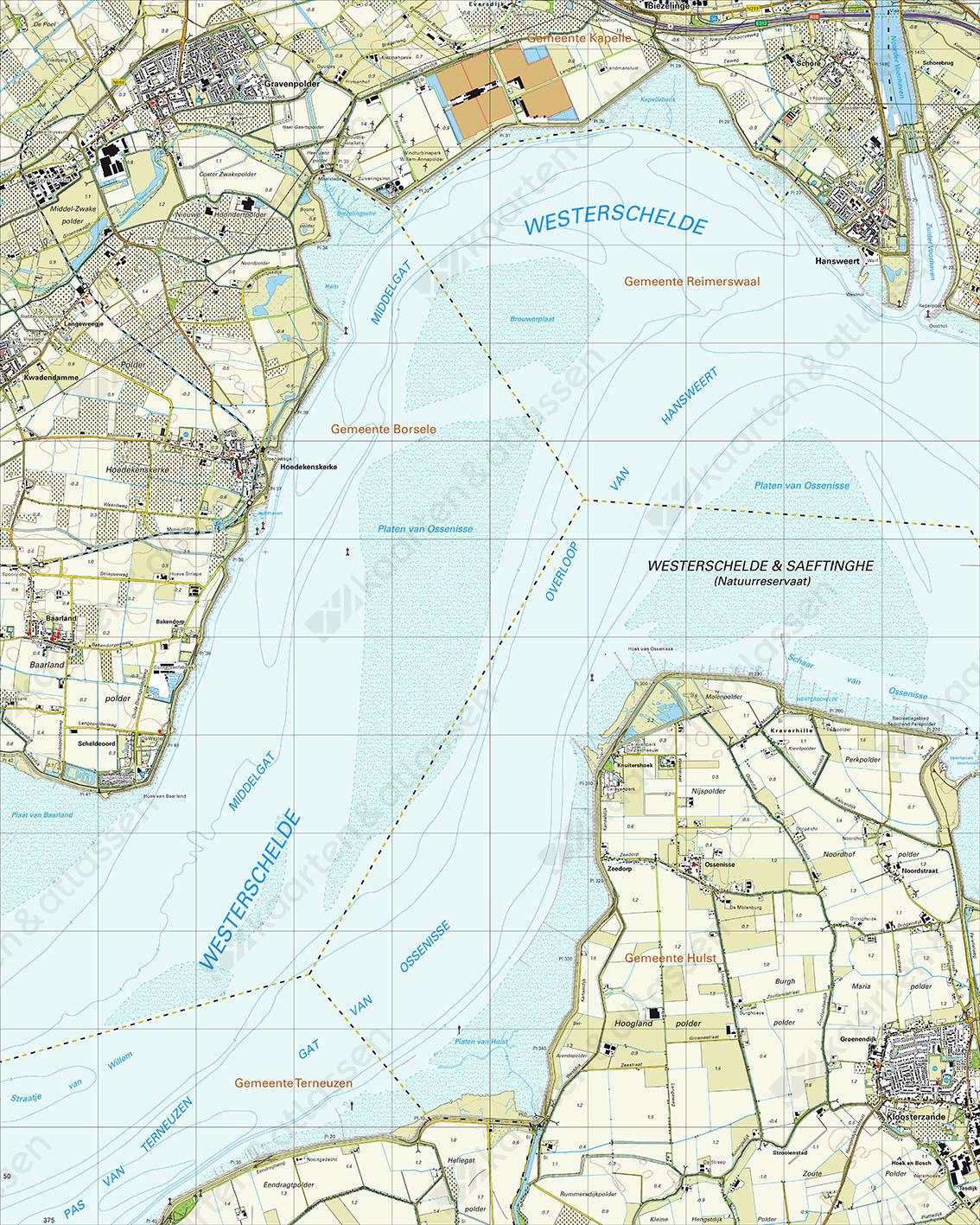 Topografische Kaart 48H 's-Gravenpolder
