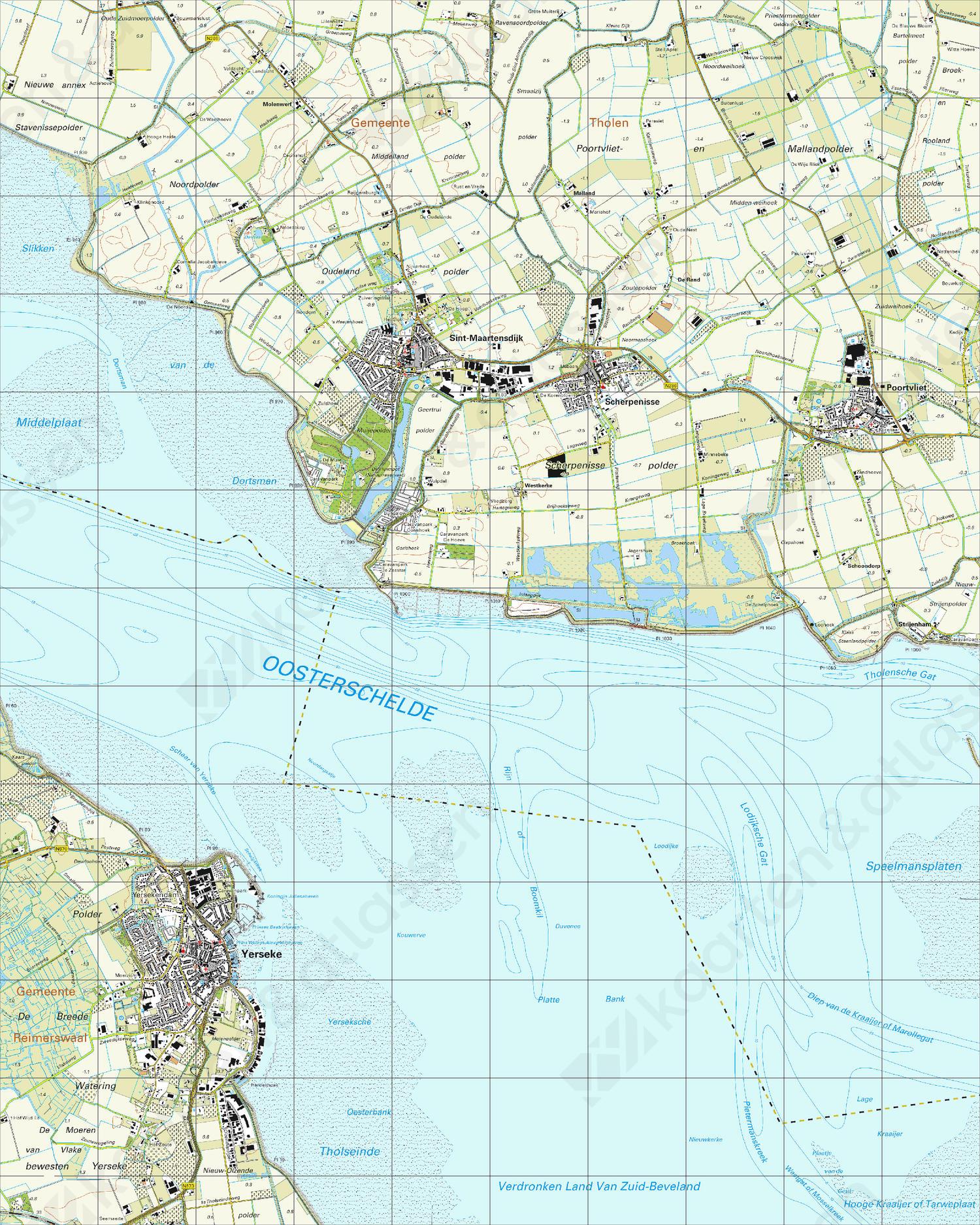 Topografische Kaart 49A Sint Maartensdijk