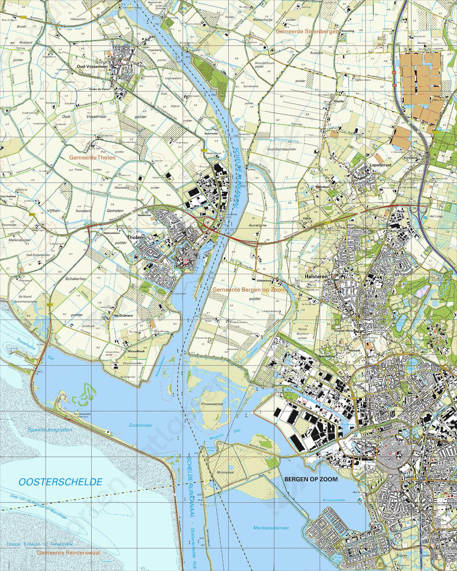 Topografische Kaart 49B Bergen op Zoom