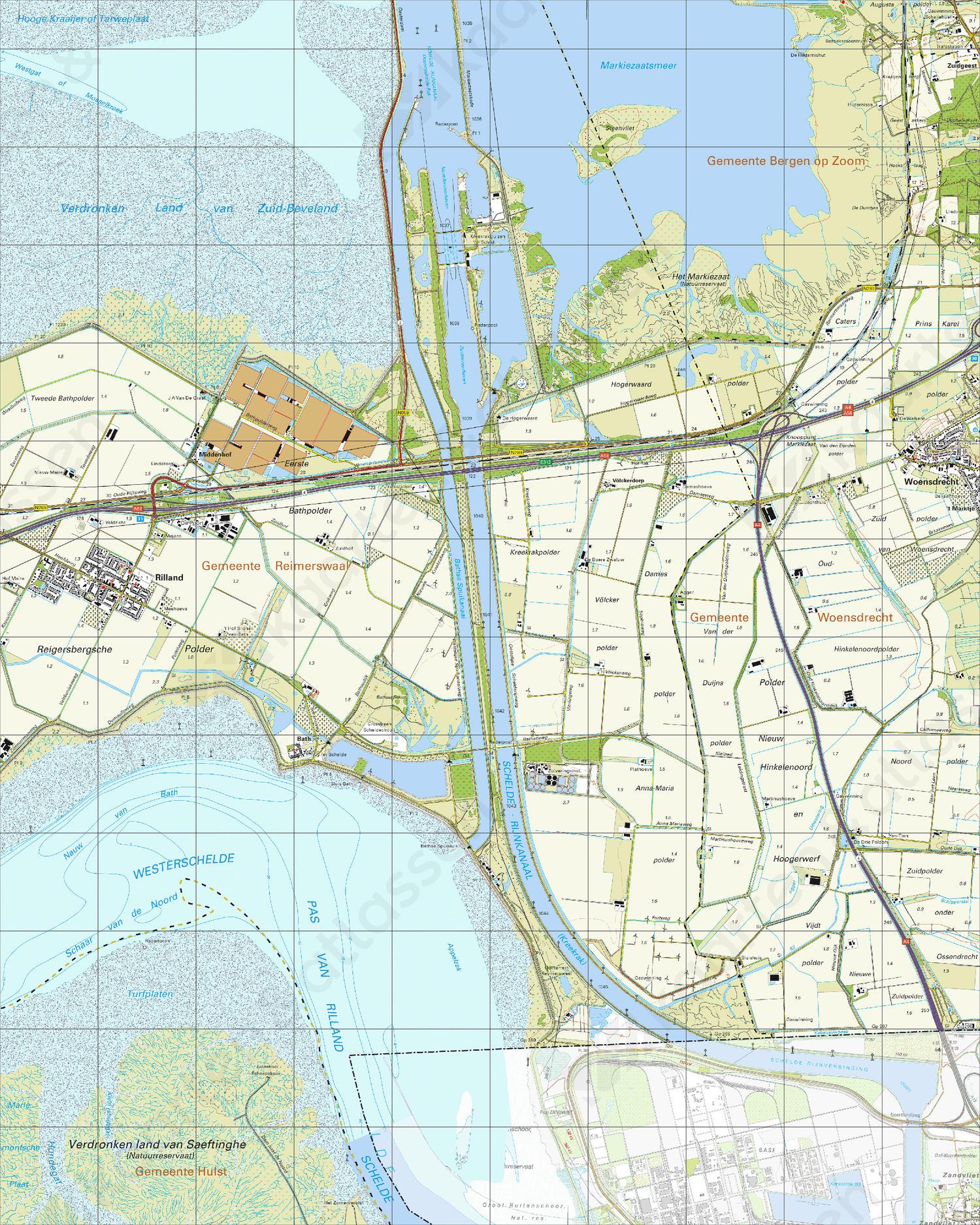 Topografische Kaart 49D Rilland
