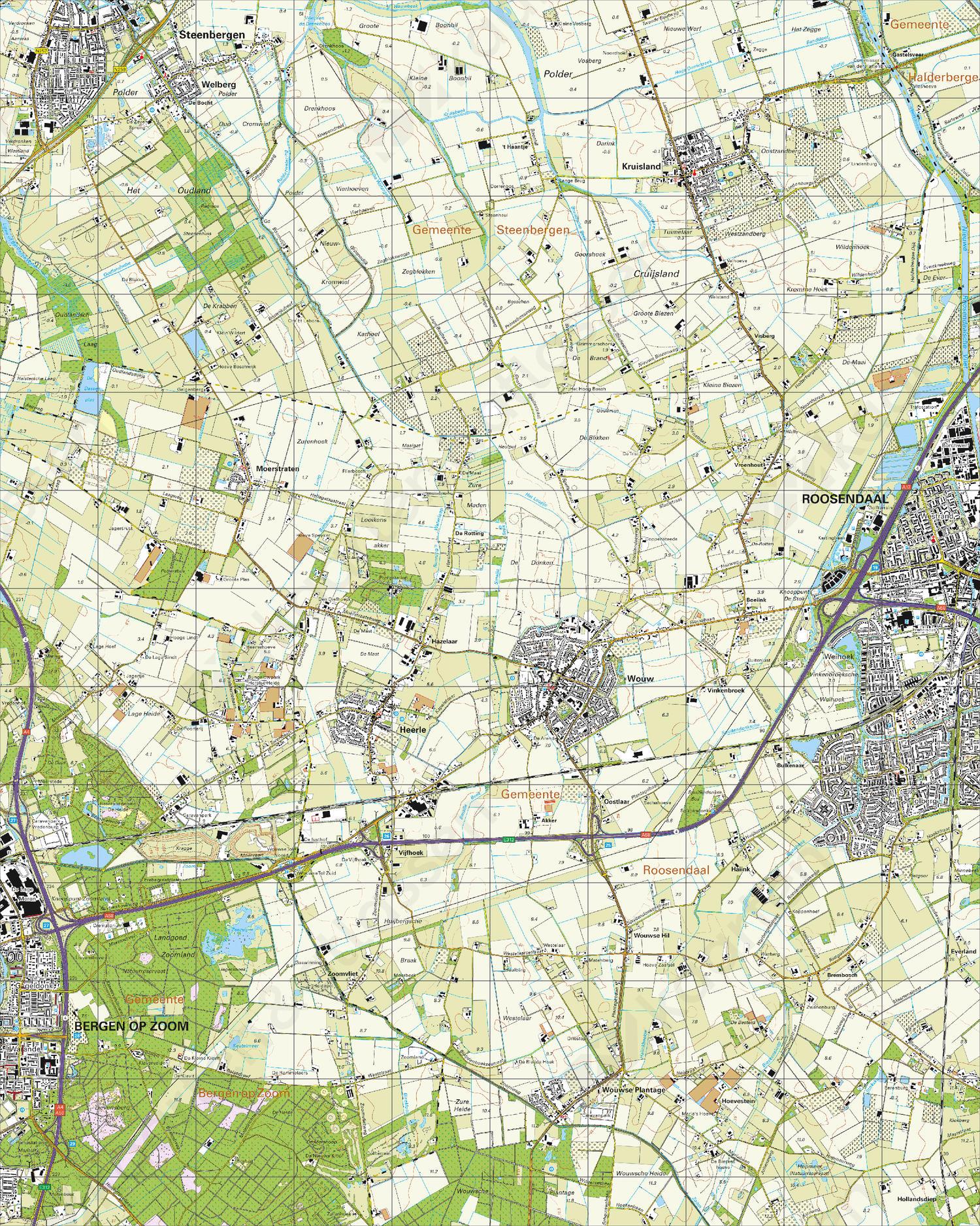 Topografische Kaart 49E Wouw