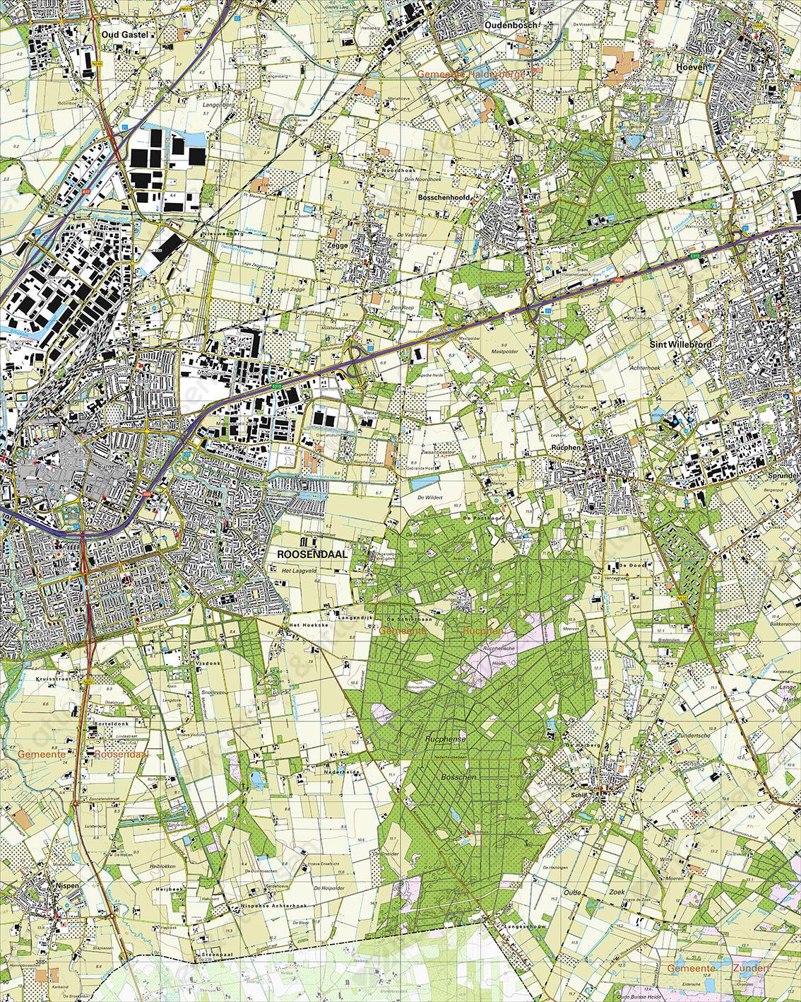 Topografische Kaart 49F Roosendaal