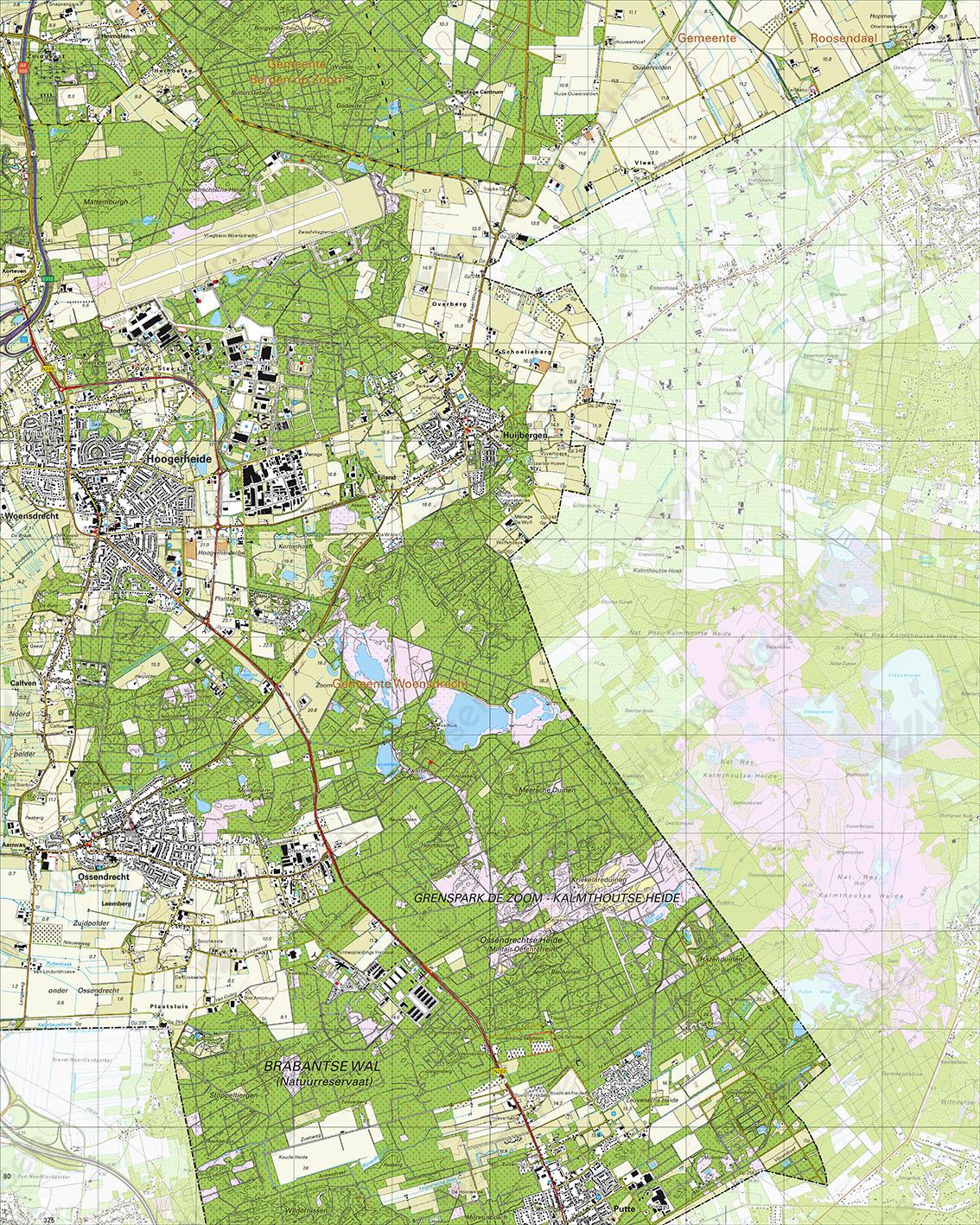 Topografische Kaart 49G Hoogerheide