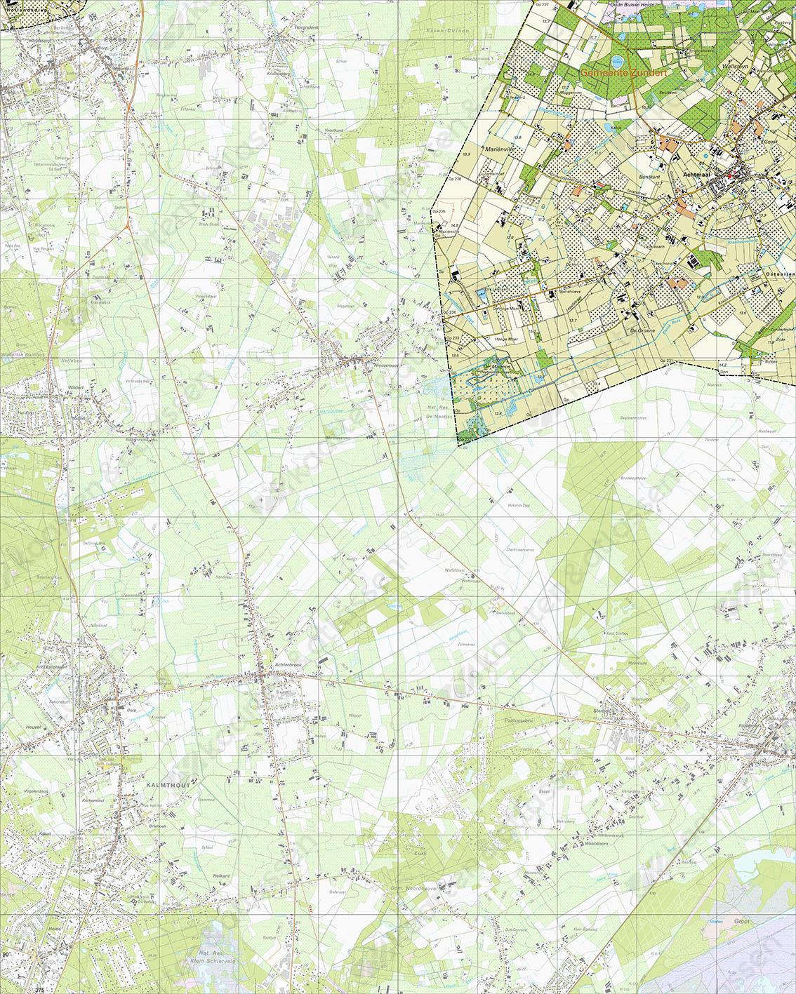 Topografische Kaart 49H Achtmaal