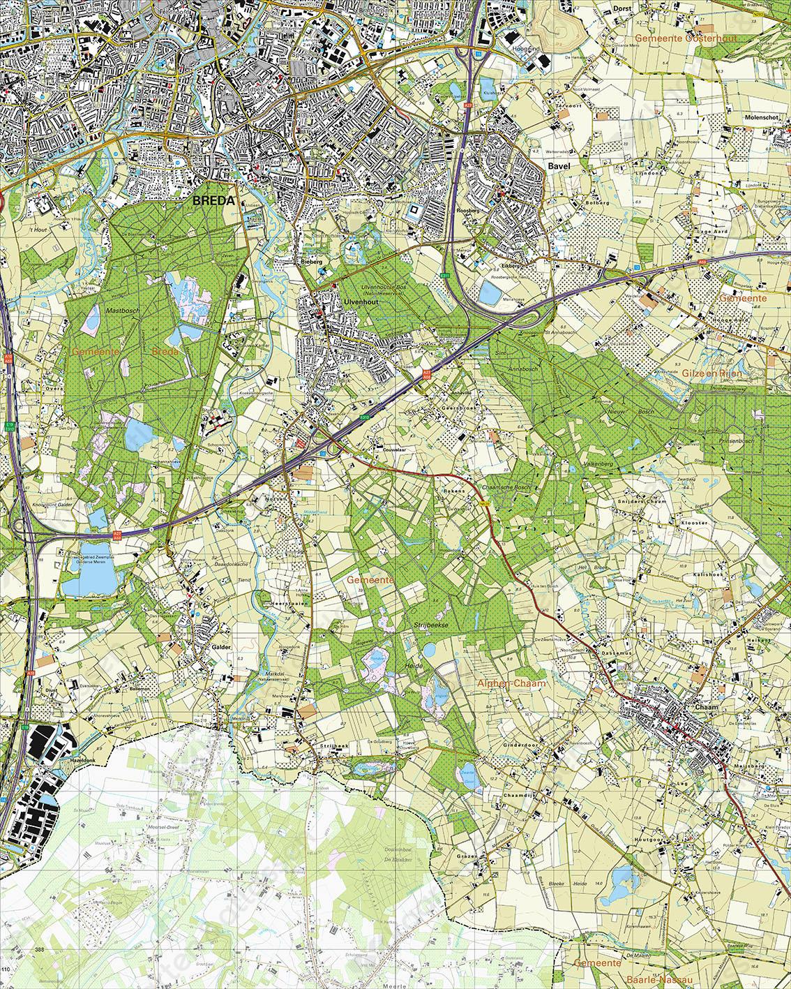 Topografische Kaart 50B Ulvenhout