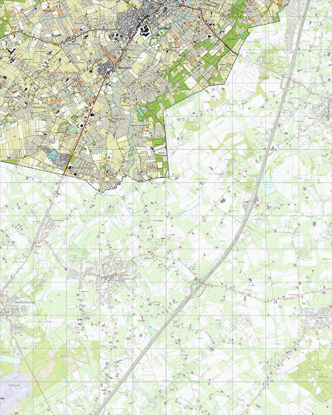 Topografische Kaart 50C Zundert