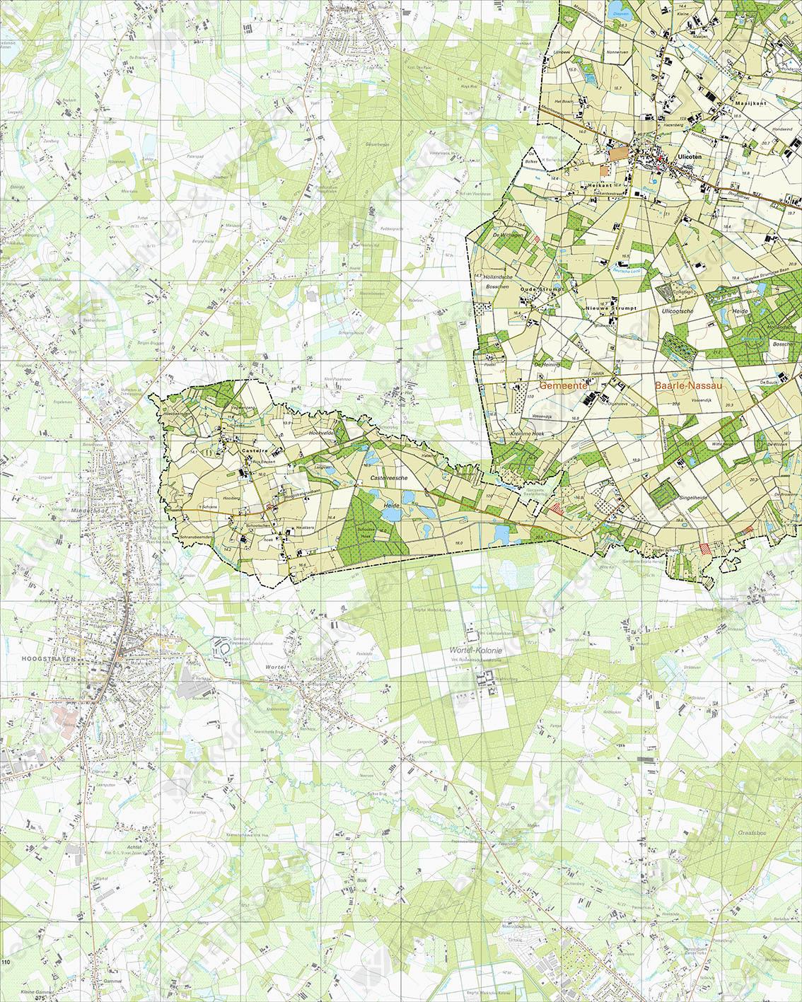 Topografische Kaart 50D Ulicoten