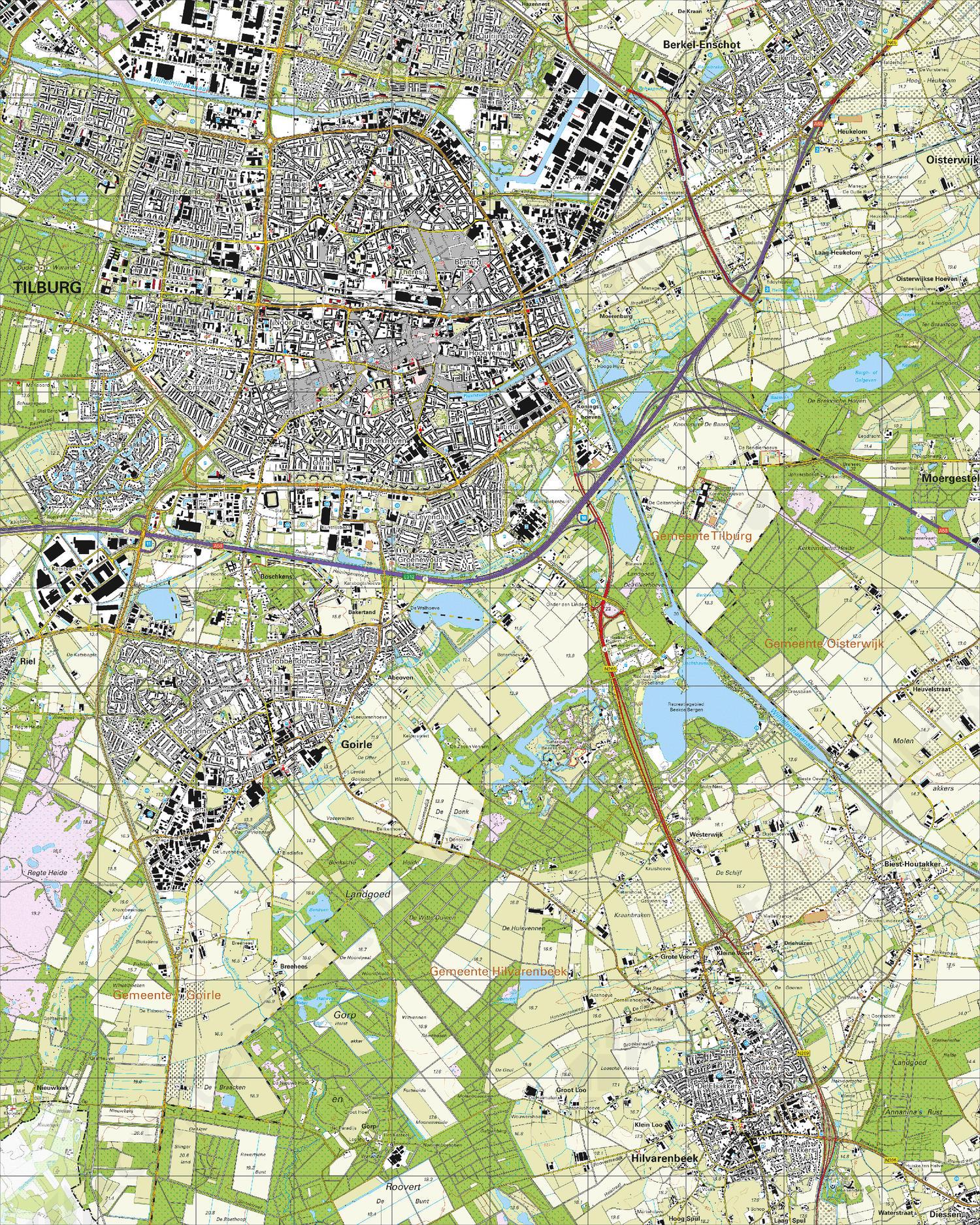 Topografische Kaart 50F Tilburg