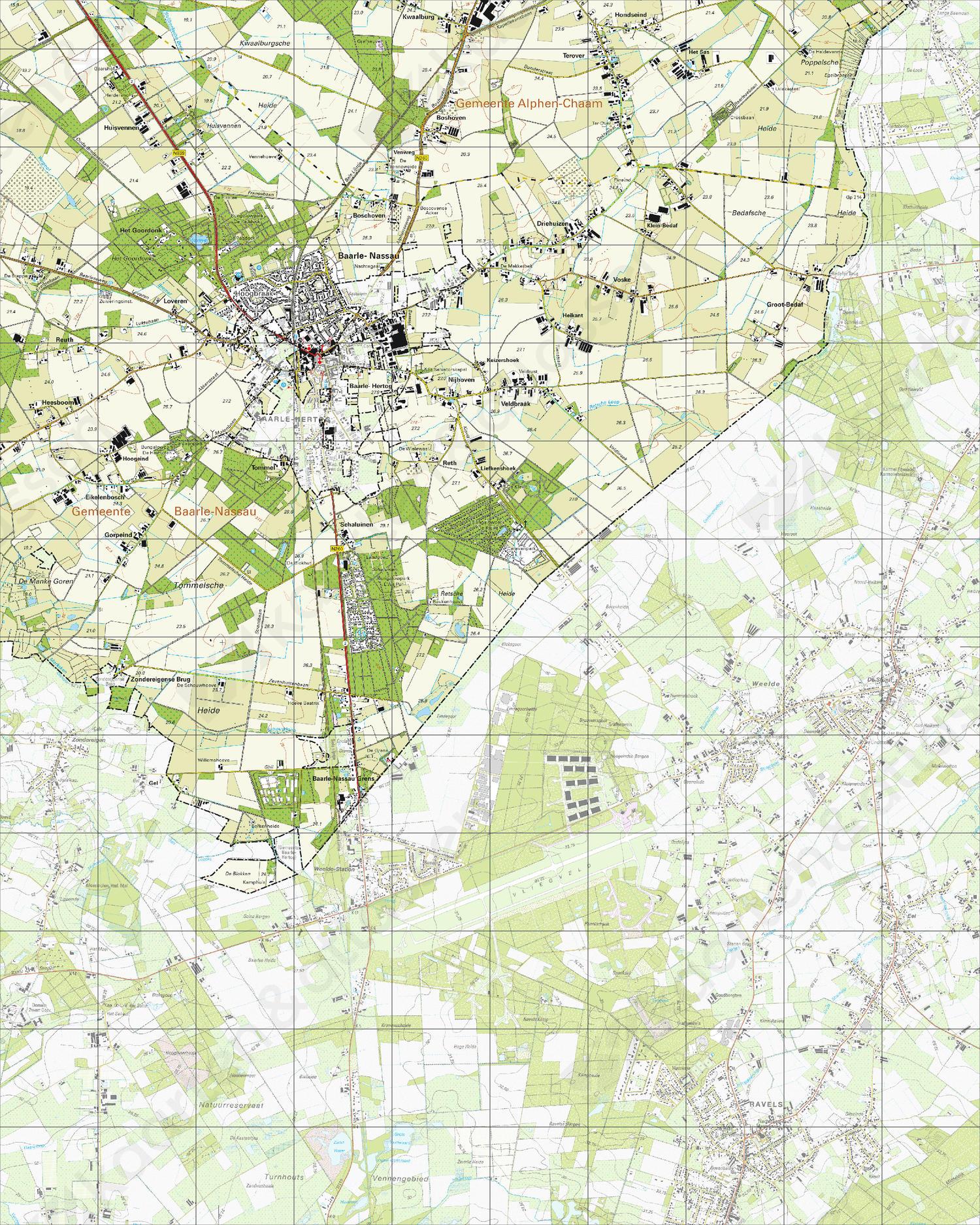 Topografische Kaart 50G Baarle-Nassau