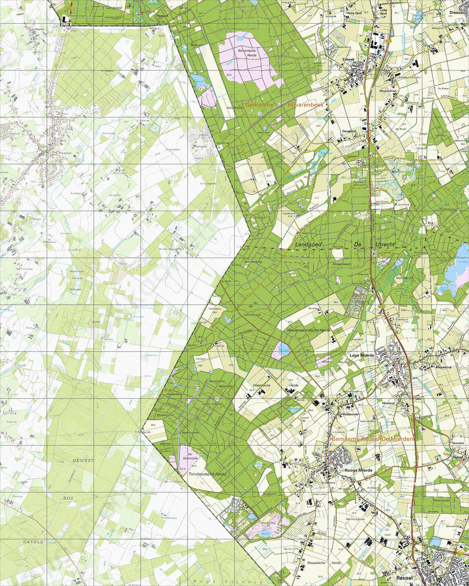 Topografische Kaart 50H Lage Mierde