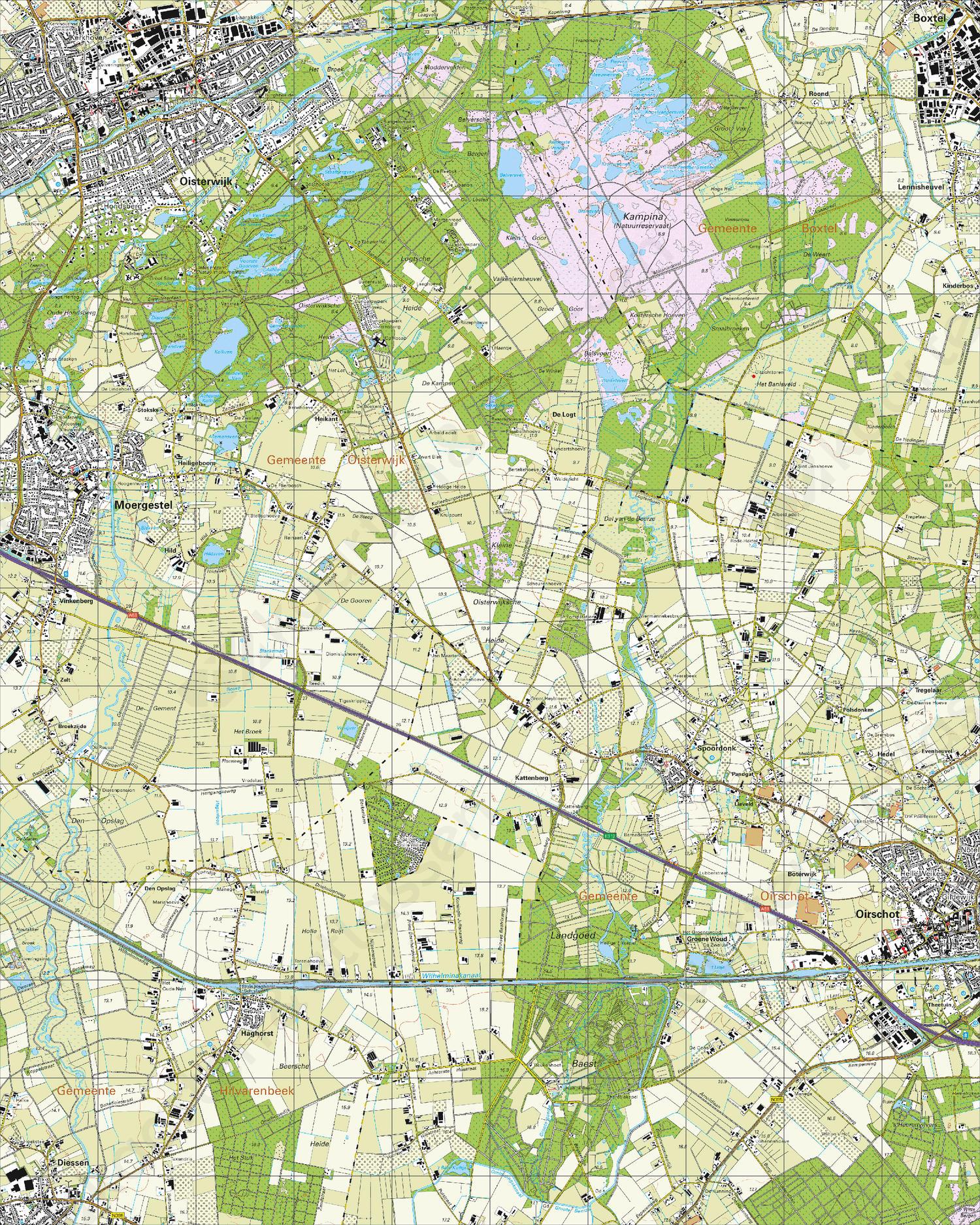Topografische Kaart 51A Oisterwijk