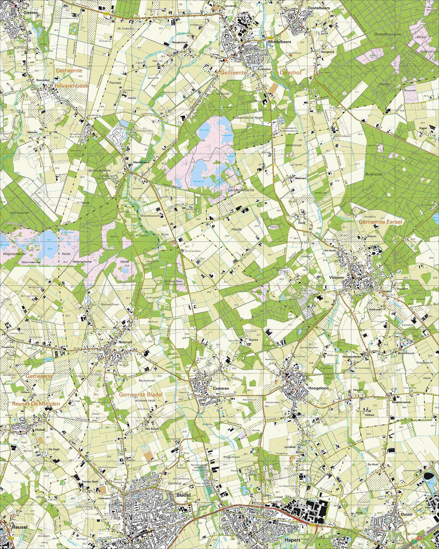 Topografische Kaart 51C Hoogeloon