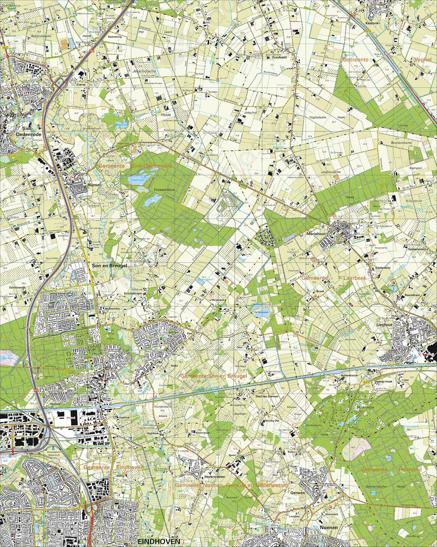 Topografische Kaart 51E Son