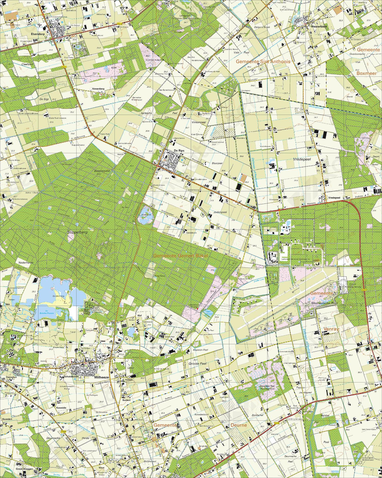 Topografische Kaart 52A Milheeze