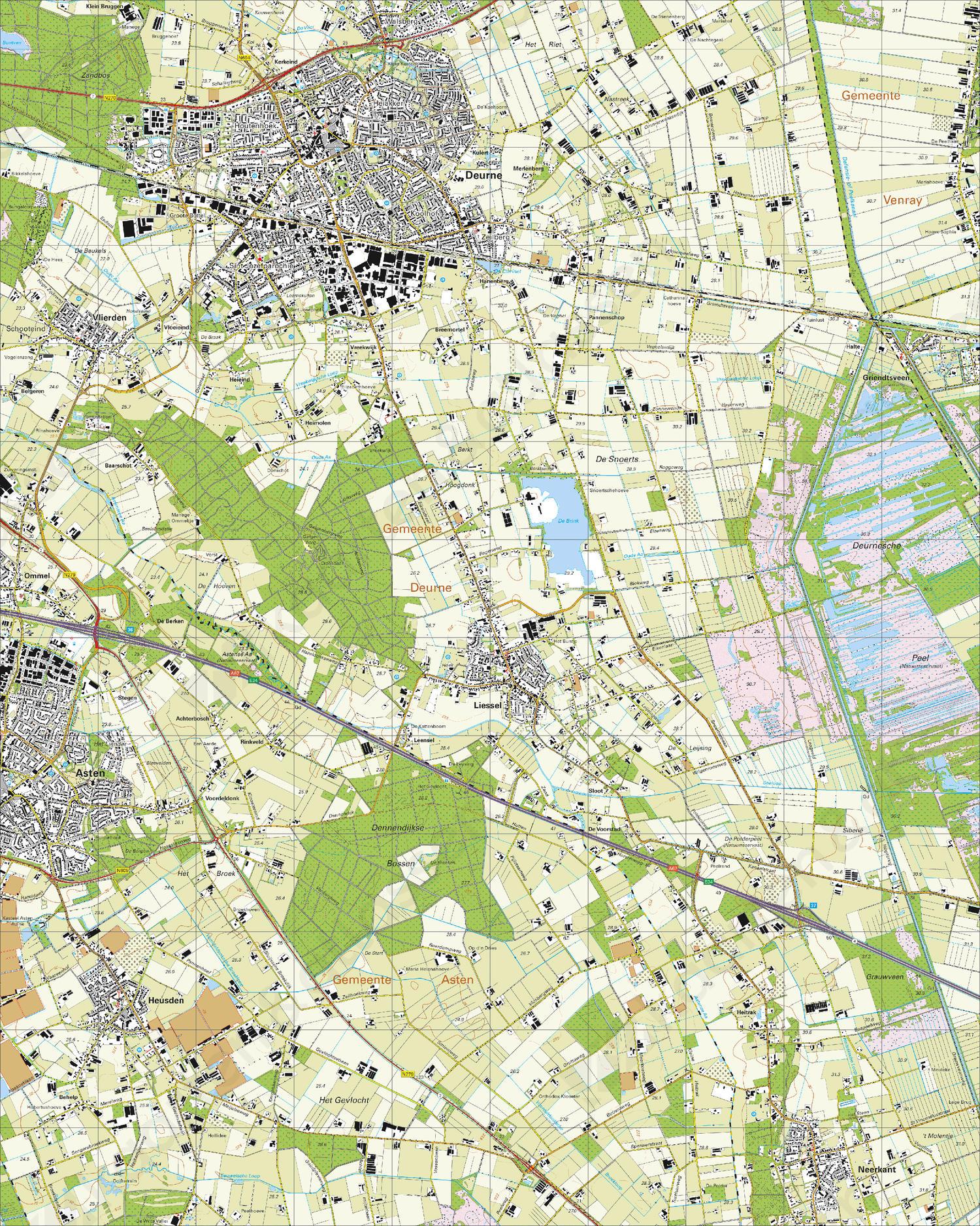 Topografische Kaart 52C Deurne