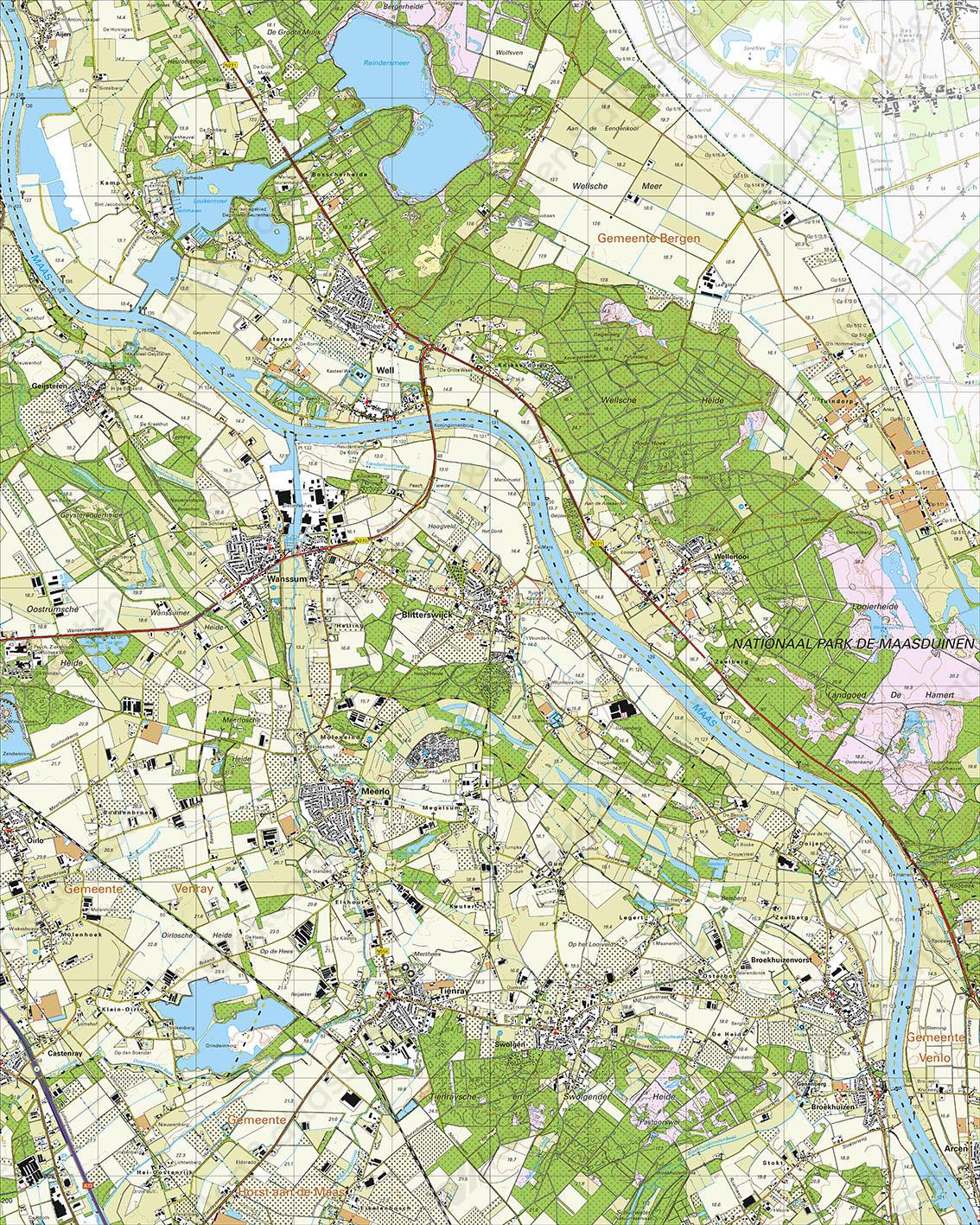 Topografische Kaart 52E Well