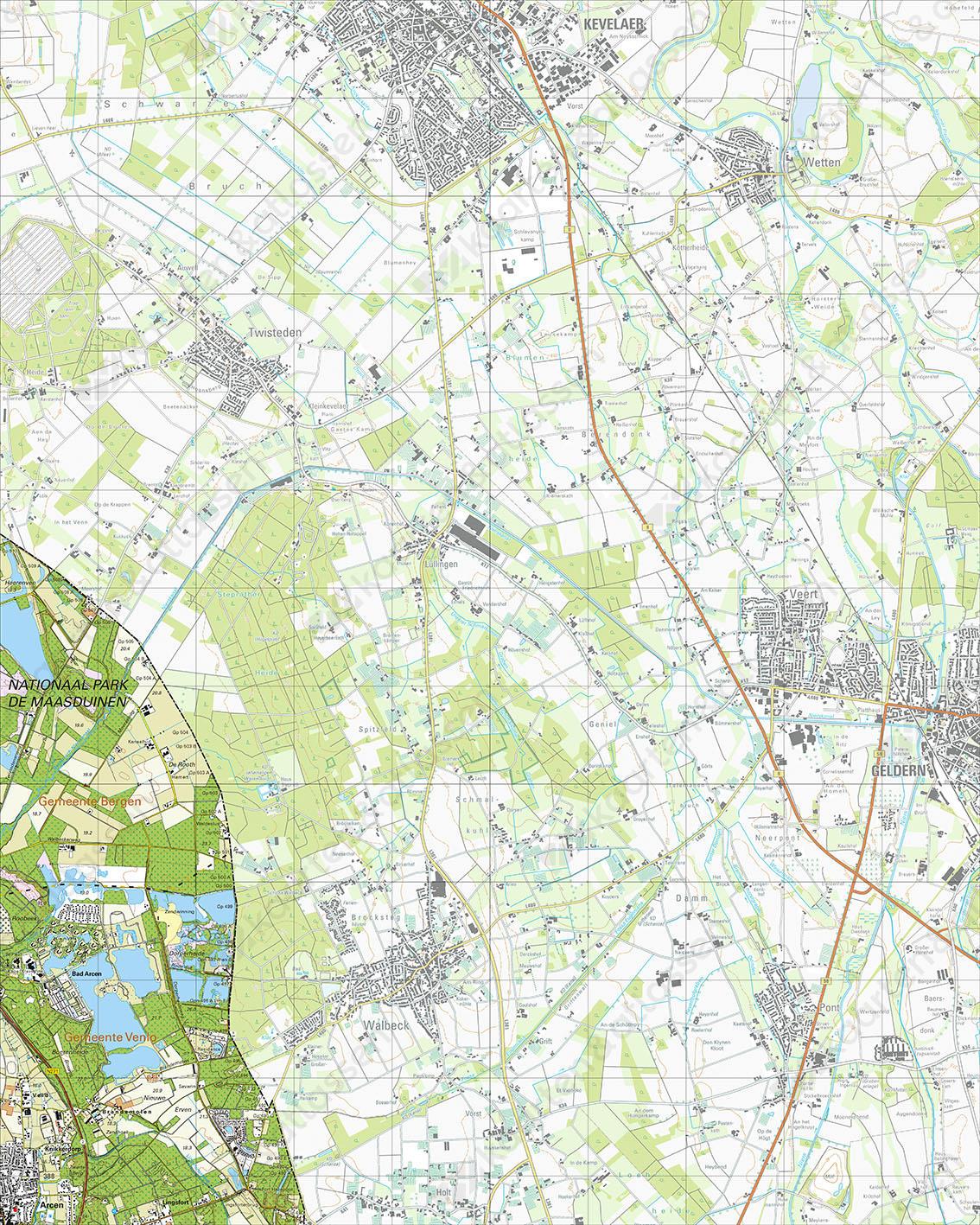 Topografische Kaart 52F Bad Arcen