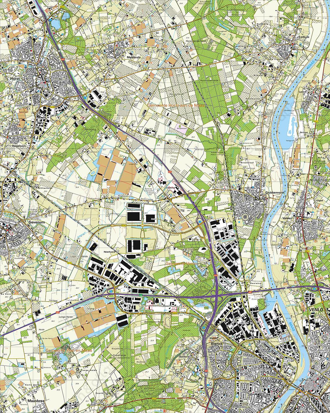 Topografische Kaart 52G Venlo