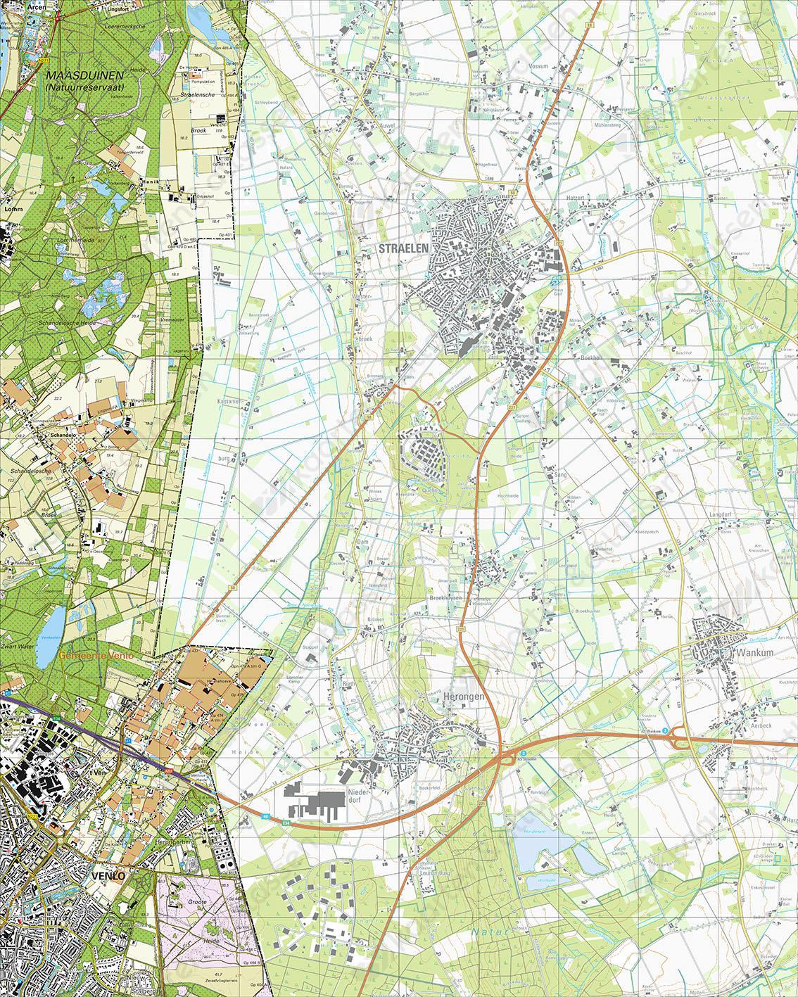 Topografische Kaart 52H Venlo
