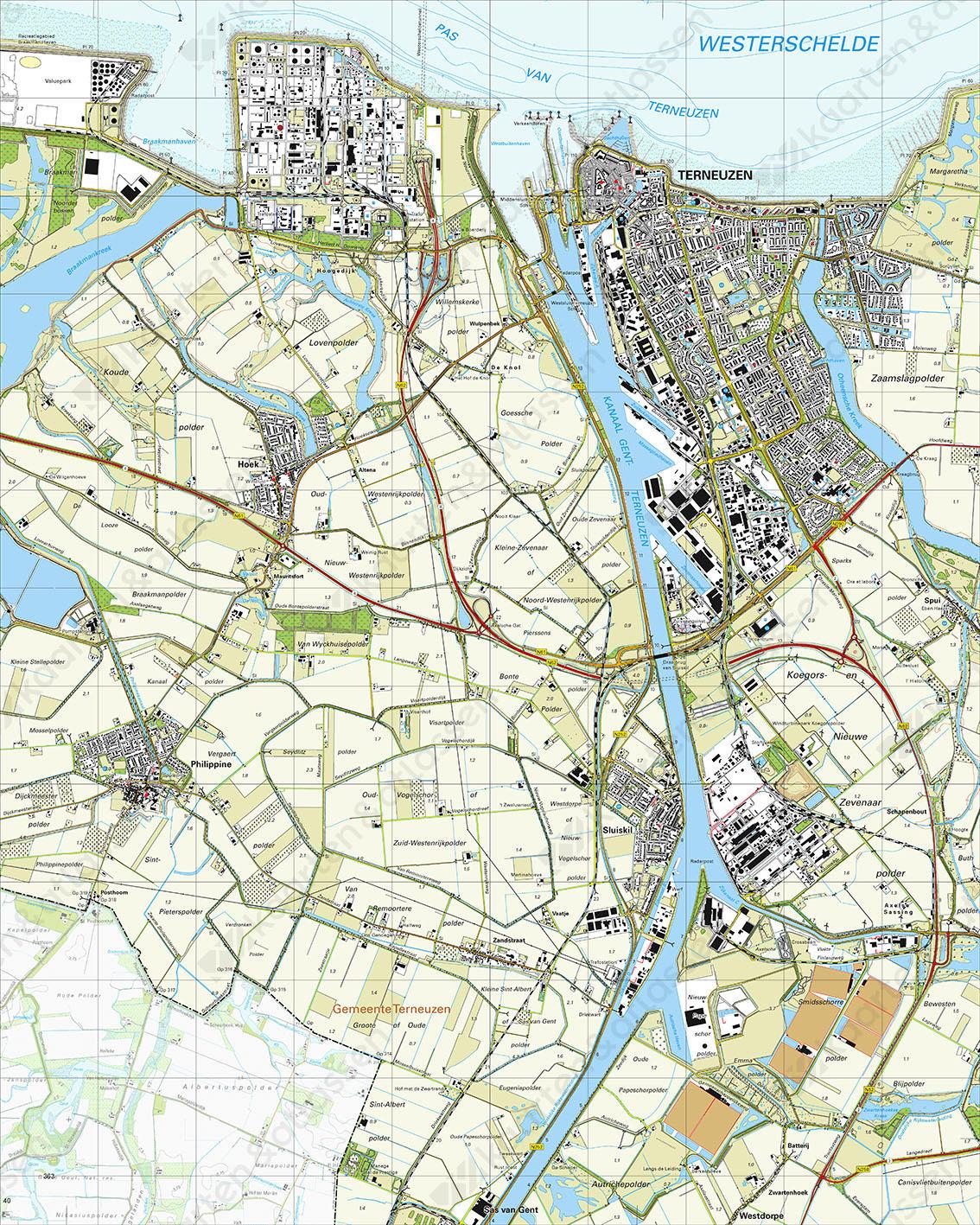 Topografische Kaart 54E Terneuzen