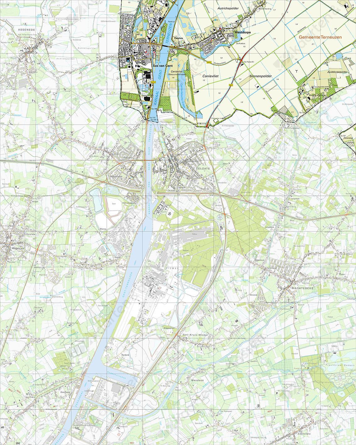 Topografische Kaart 54G Sas van Gent