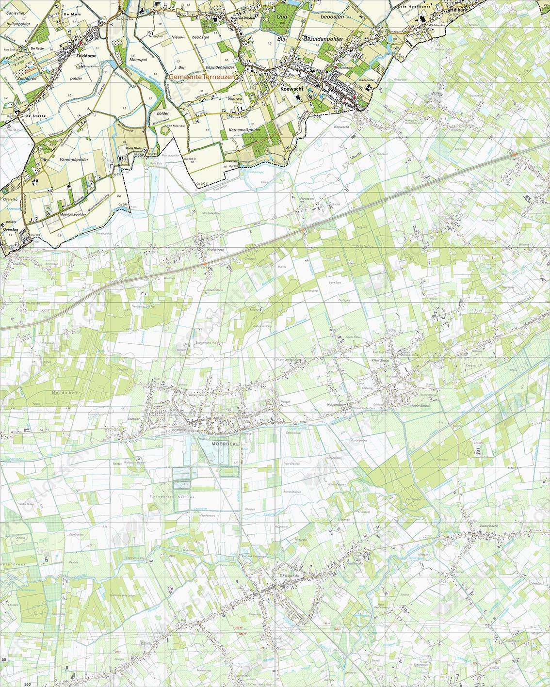 Topografische Kaart 54H Koewacht