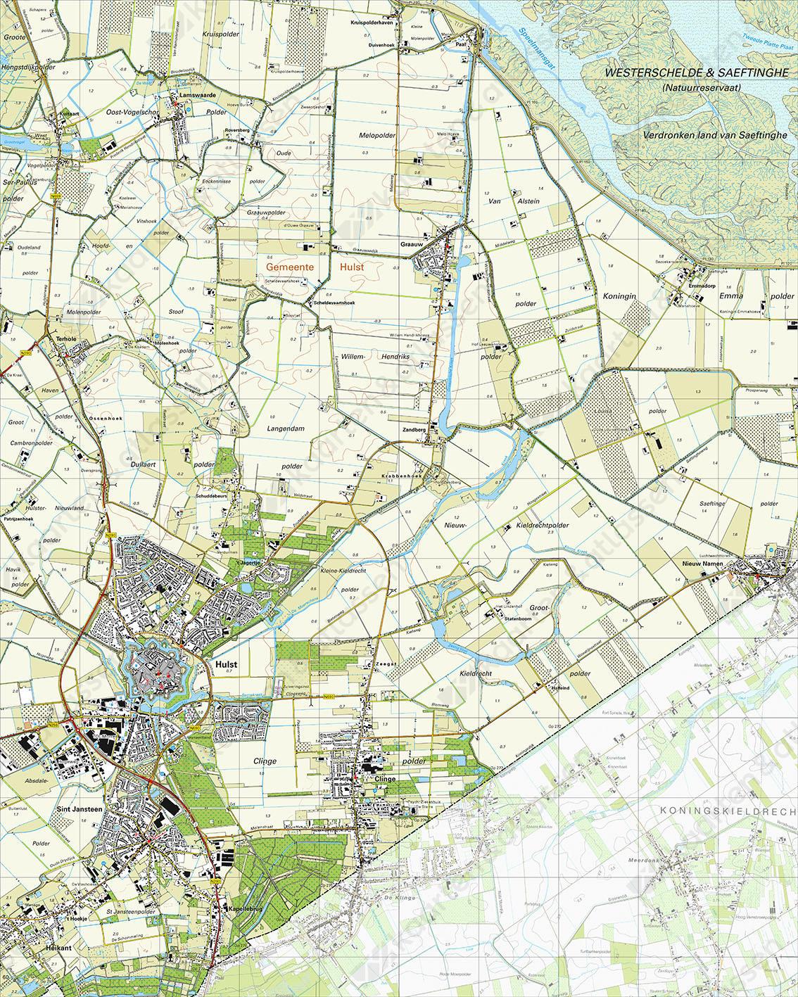Topografische Kaart 55A Hulst