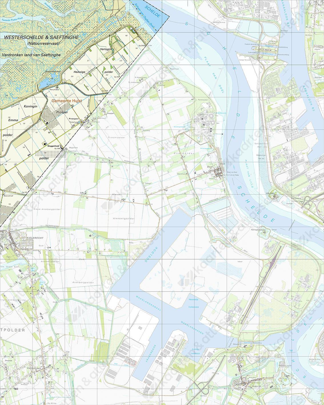 Topografische Kaart 55B Prosperpolder