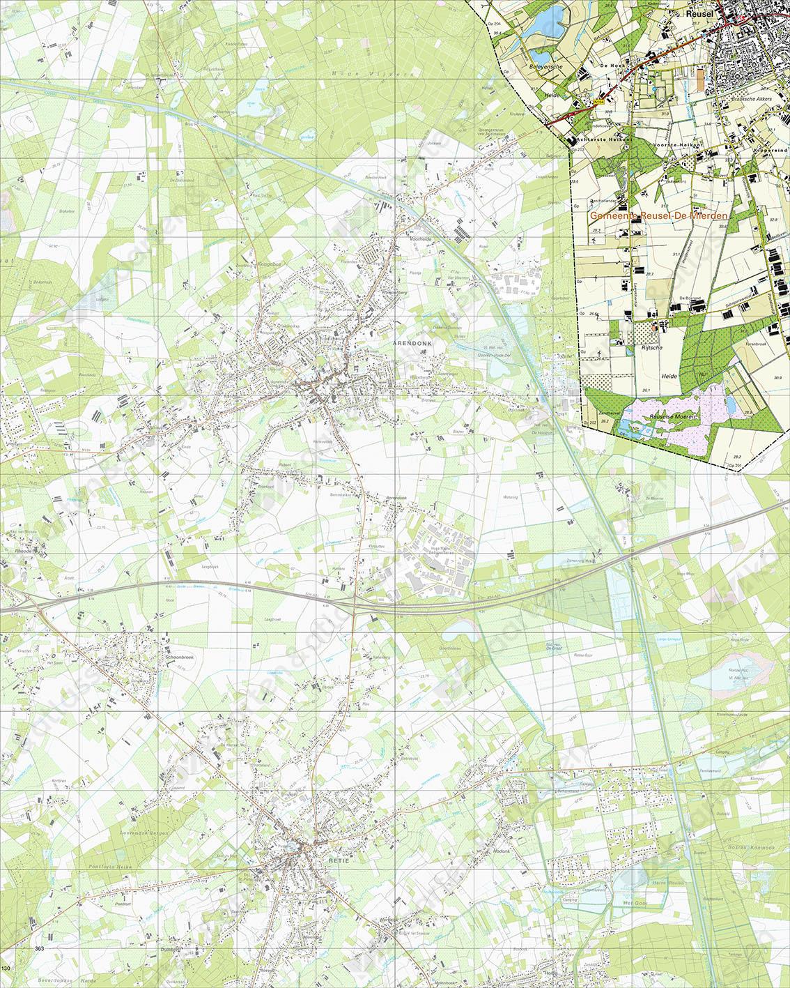 Topografische Kaart 56F Voortse Heikant