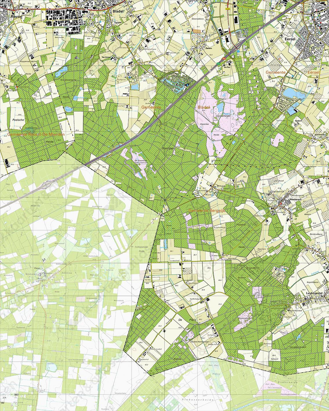 Topografische Kaart 57A Weebosch