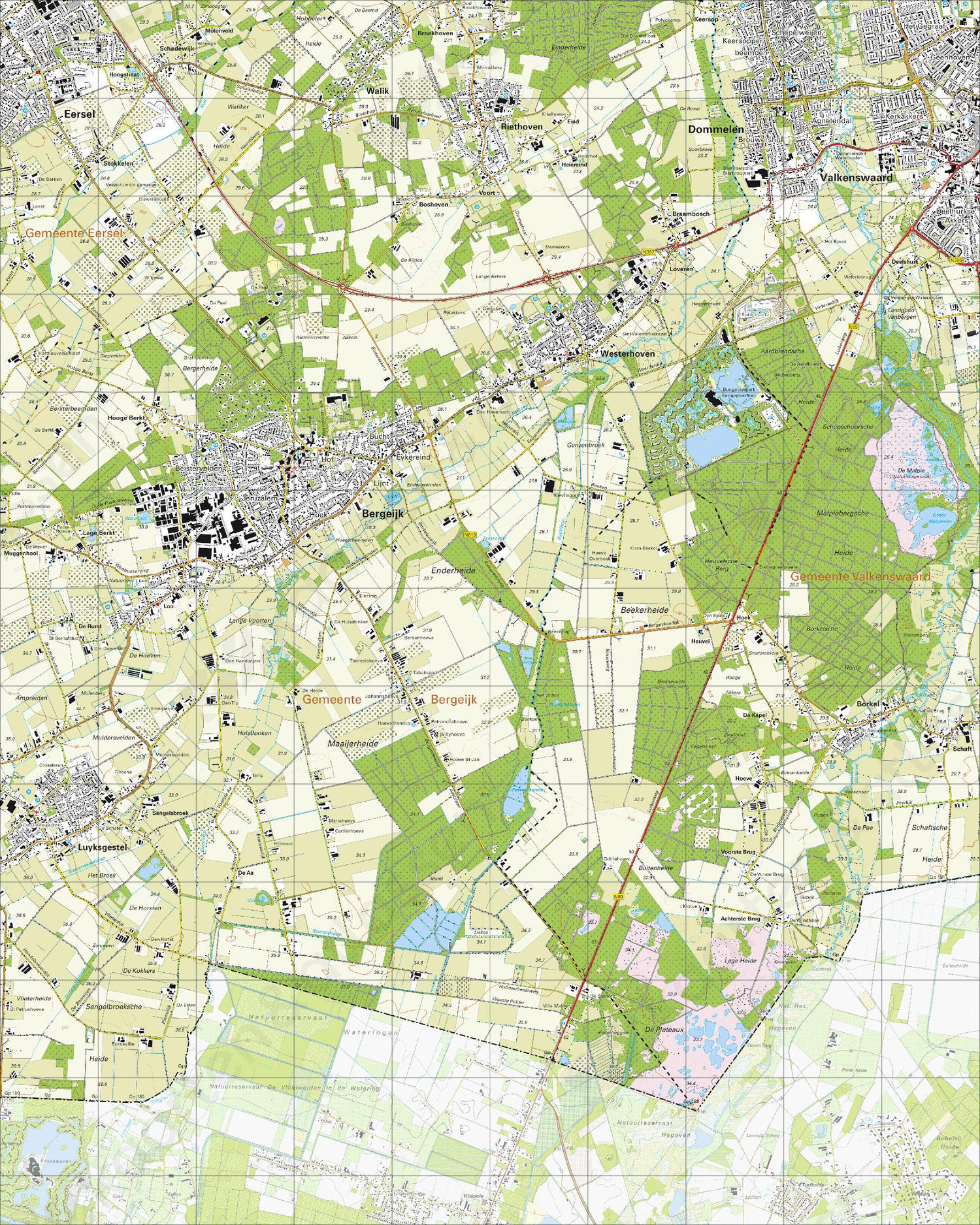 Topografische Kaart 57B Bergeijk