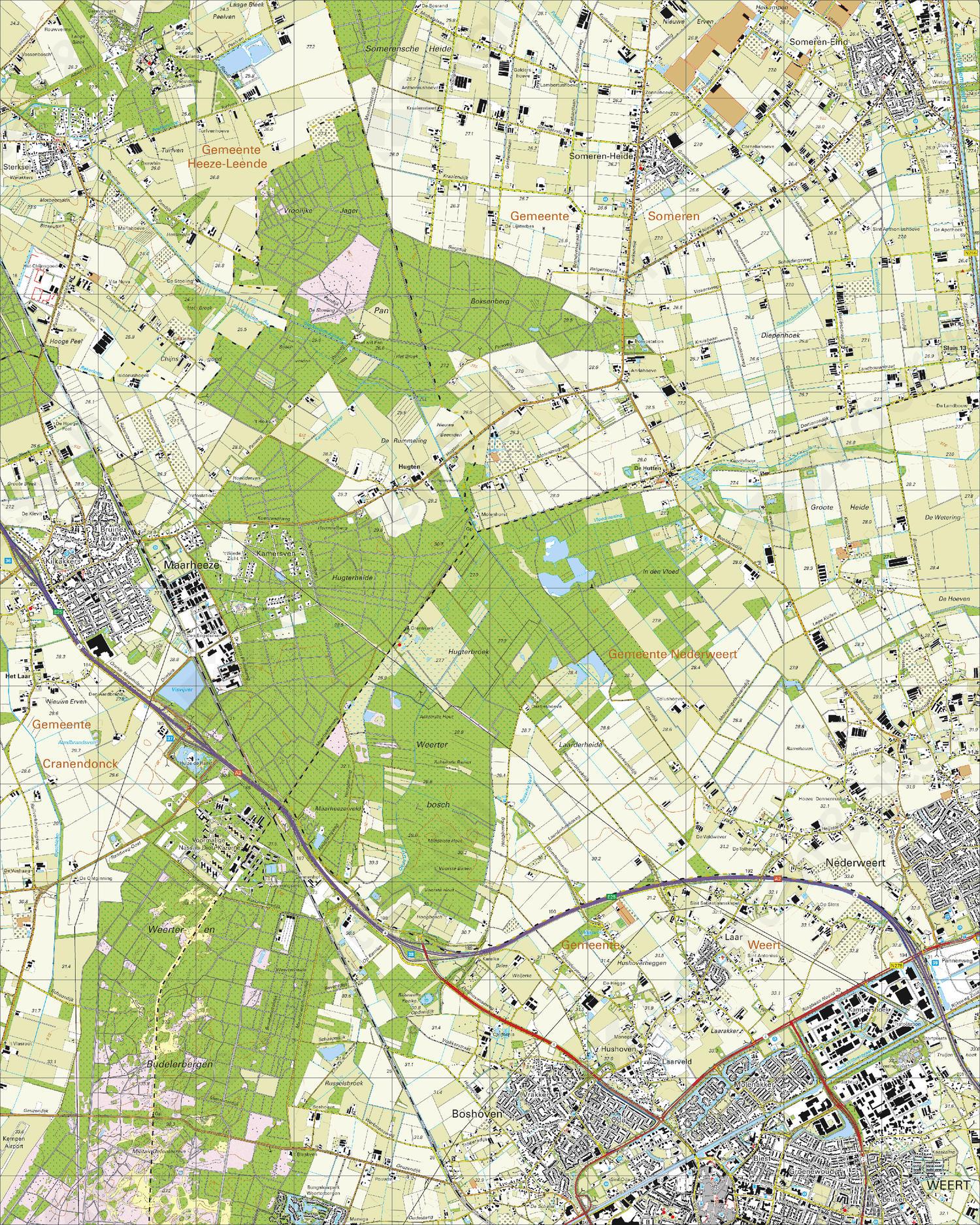 Topografische Kaart 57F Maarheze