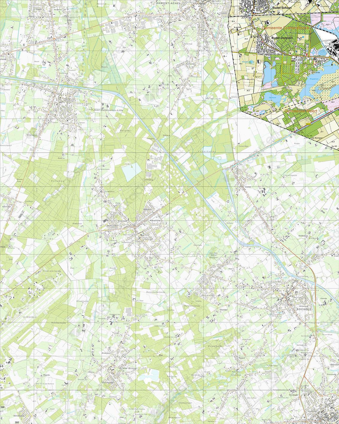 Topografische Kaart 57G Budel-Dorplein