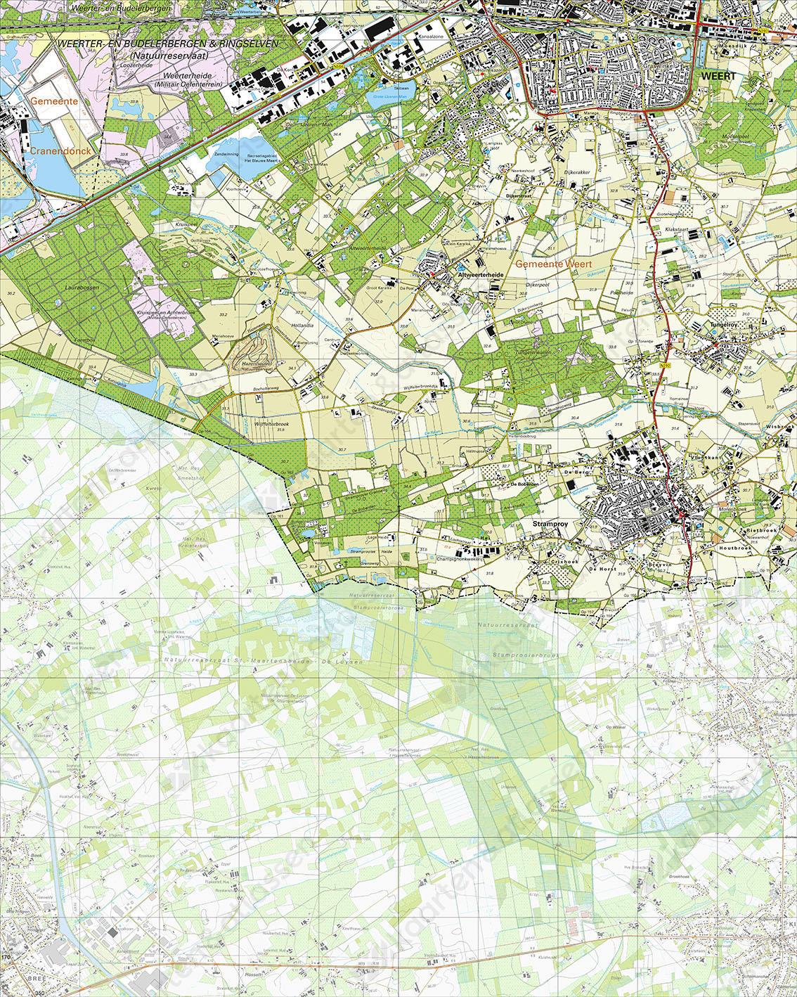 Digitale Topografische Kaart 57H Stramproy