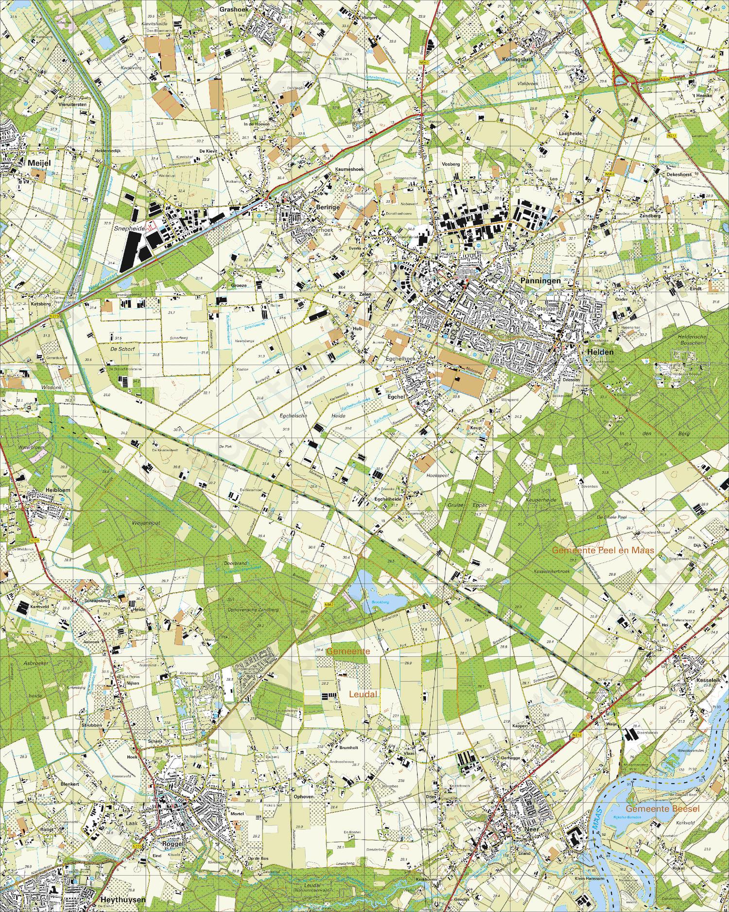 Topografische Kaart 58B Panningen
