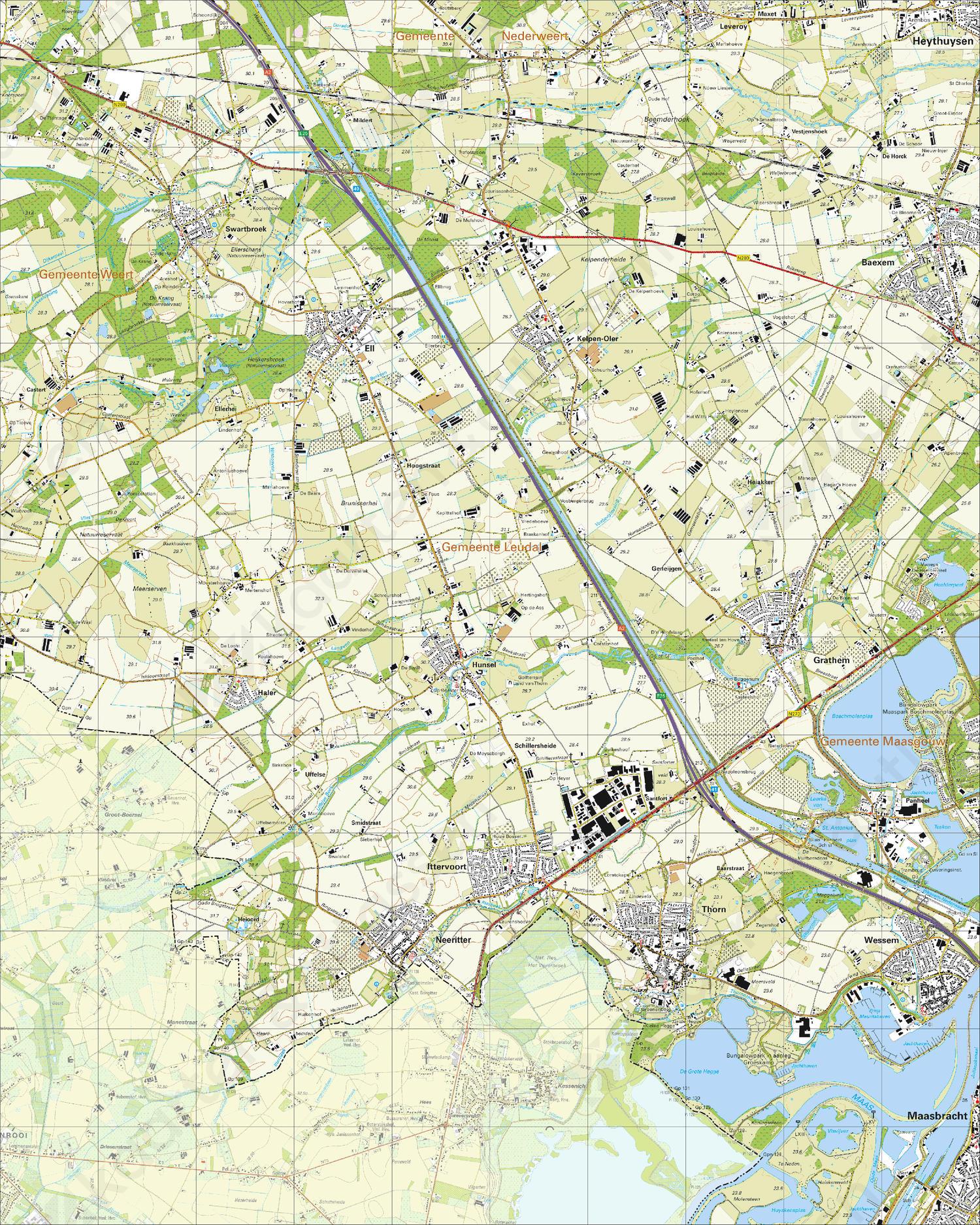 Topografische Kaart 58C Thorn