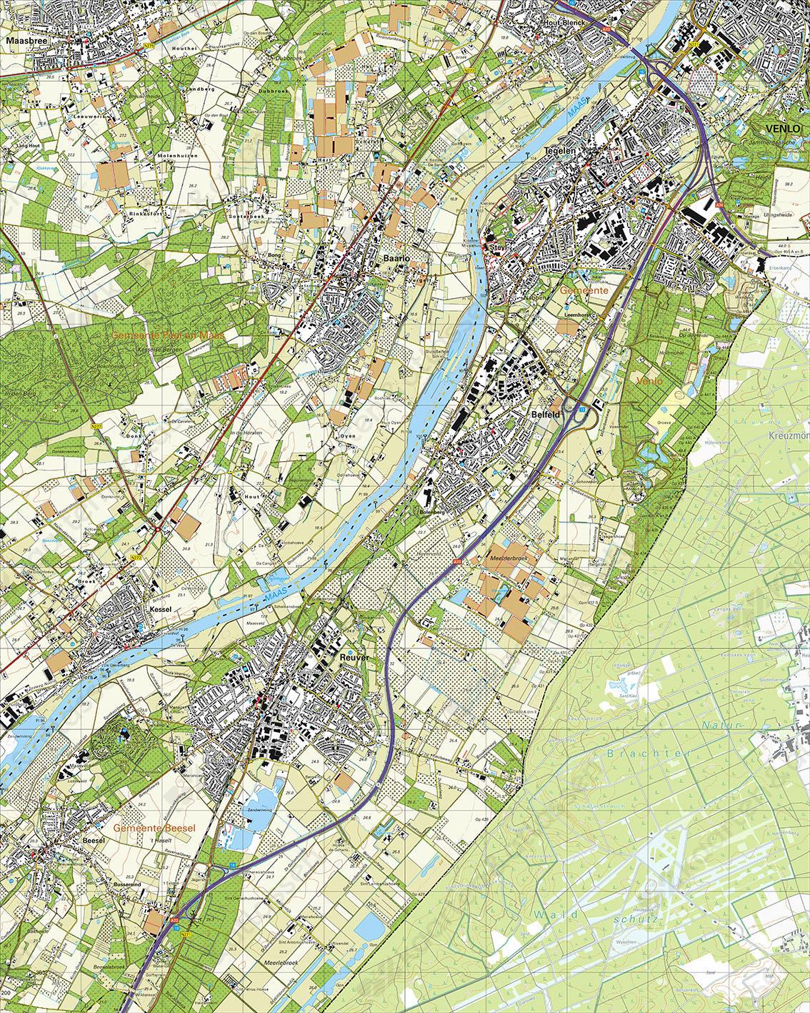 Topografische Kaart 58E Tegelen