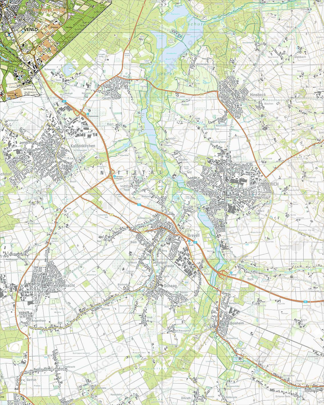 Topografische Kaart 58F Venlo-Zuidoost