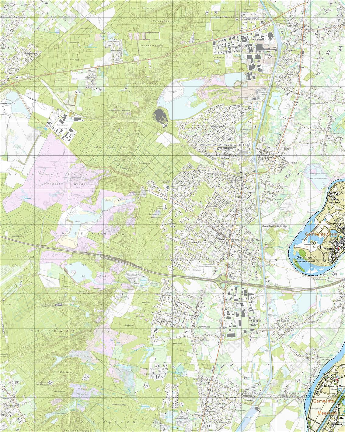 Topografische Kaart 59H Meers