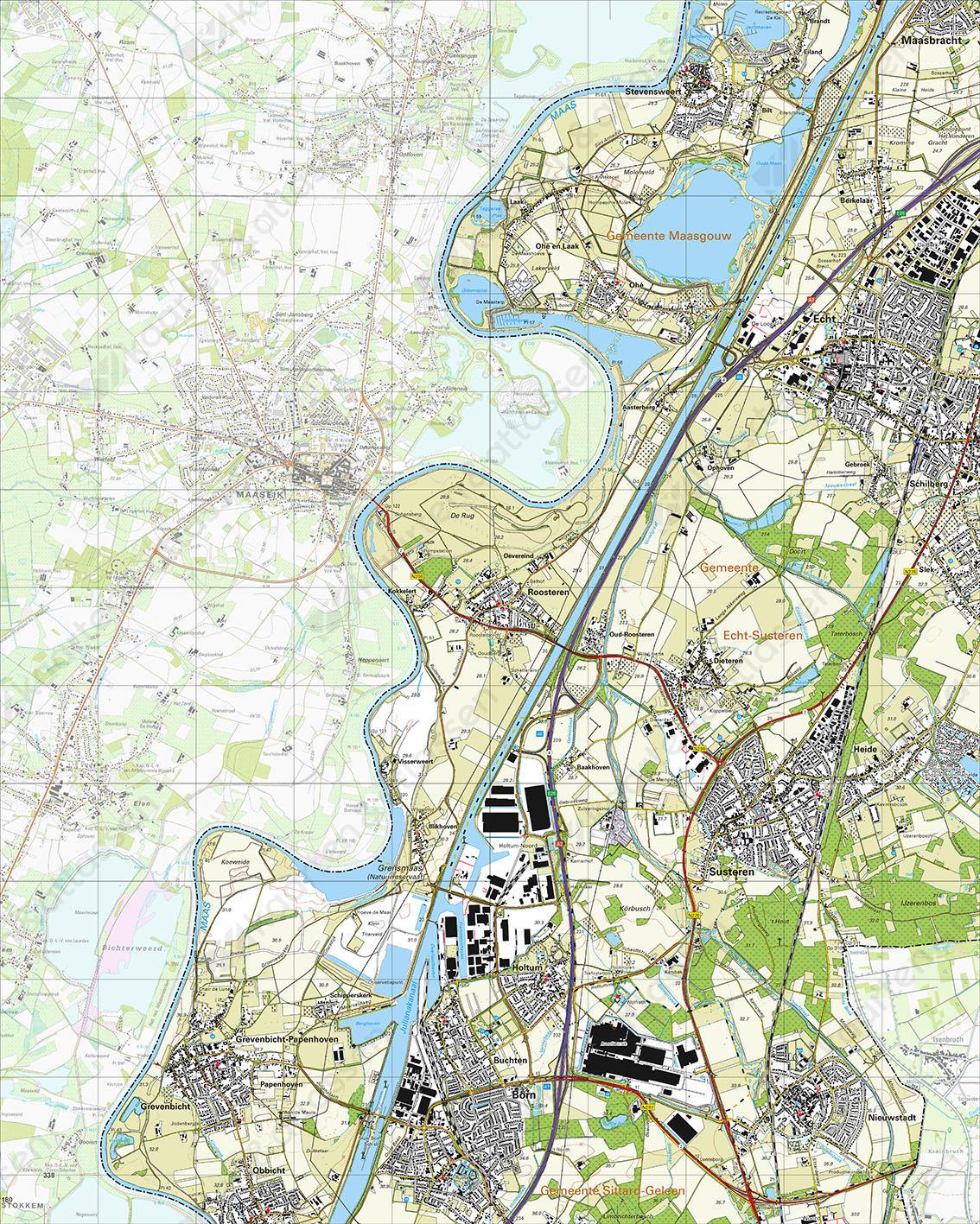 Topografische Kaart 60A Susteren