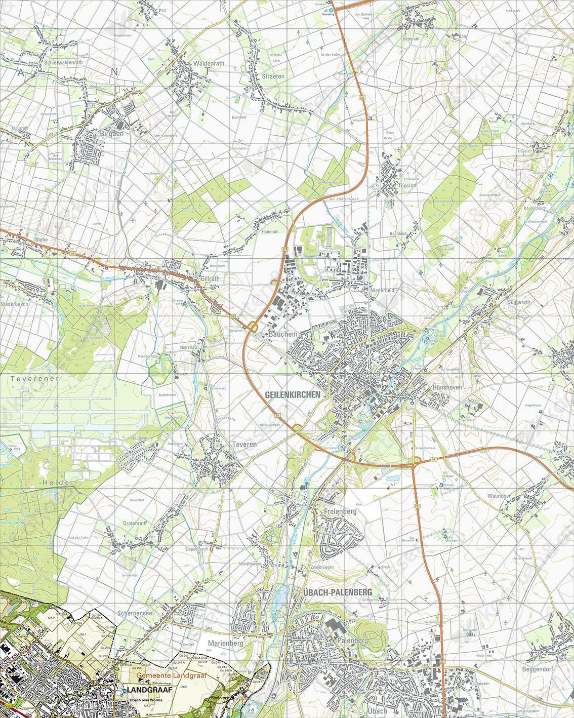 Topografische Kaart 60G Landgraaf