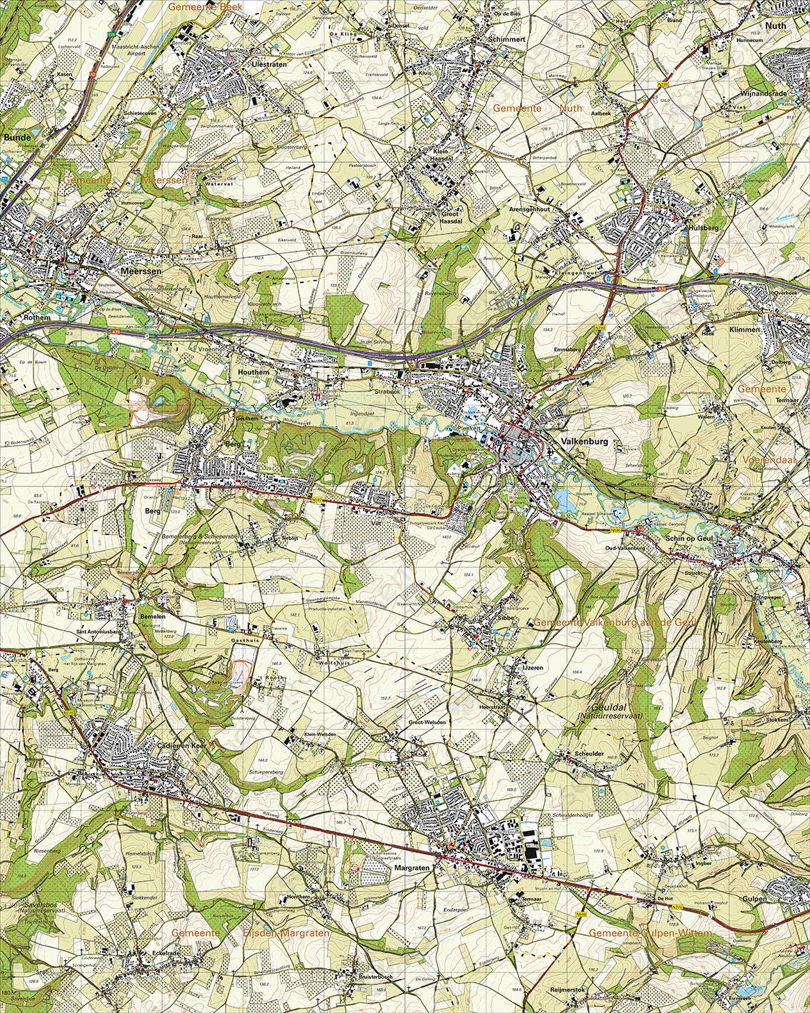 Topografische Kaart 62A  Valkenburg