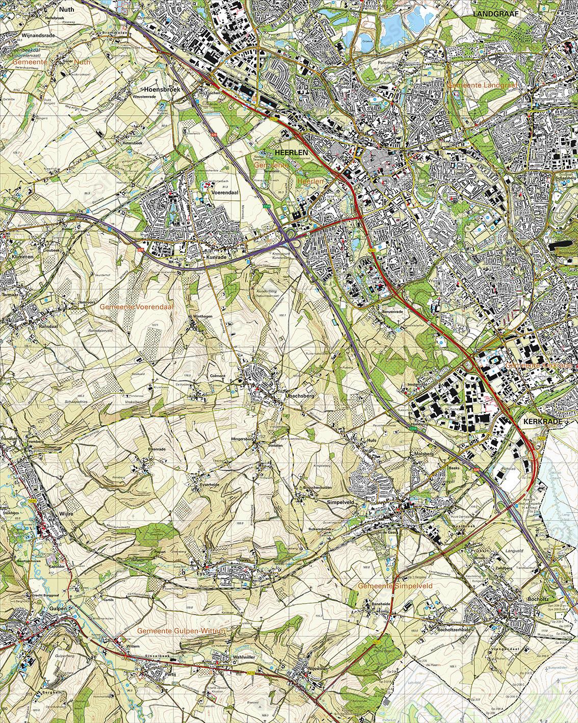 Topografische Kaart 62B Heerlen