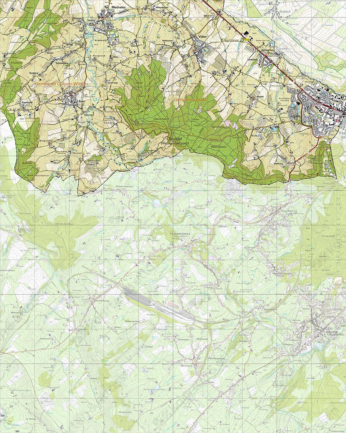 Topografische Kaart 62D Vaals