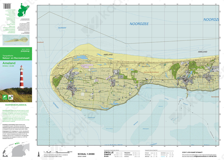 Topografische kaart Ameland