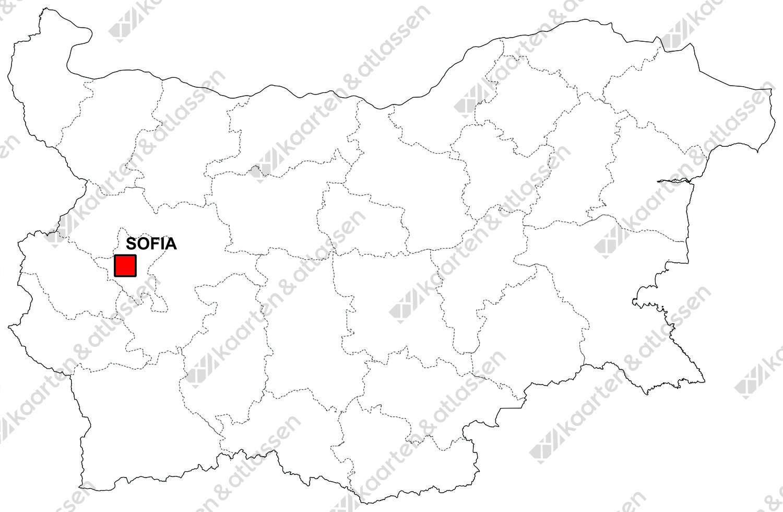 Gratis digitale kaart Bulgarije
