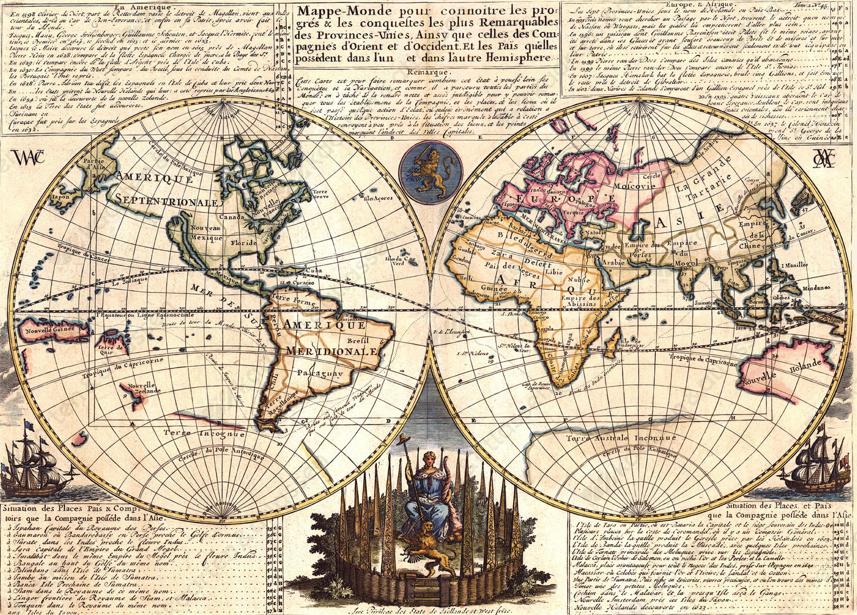 Digitale Wereldkaart Chatelain