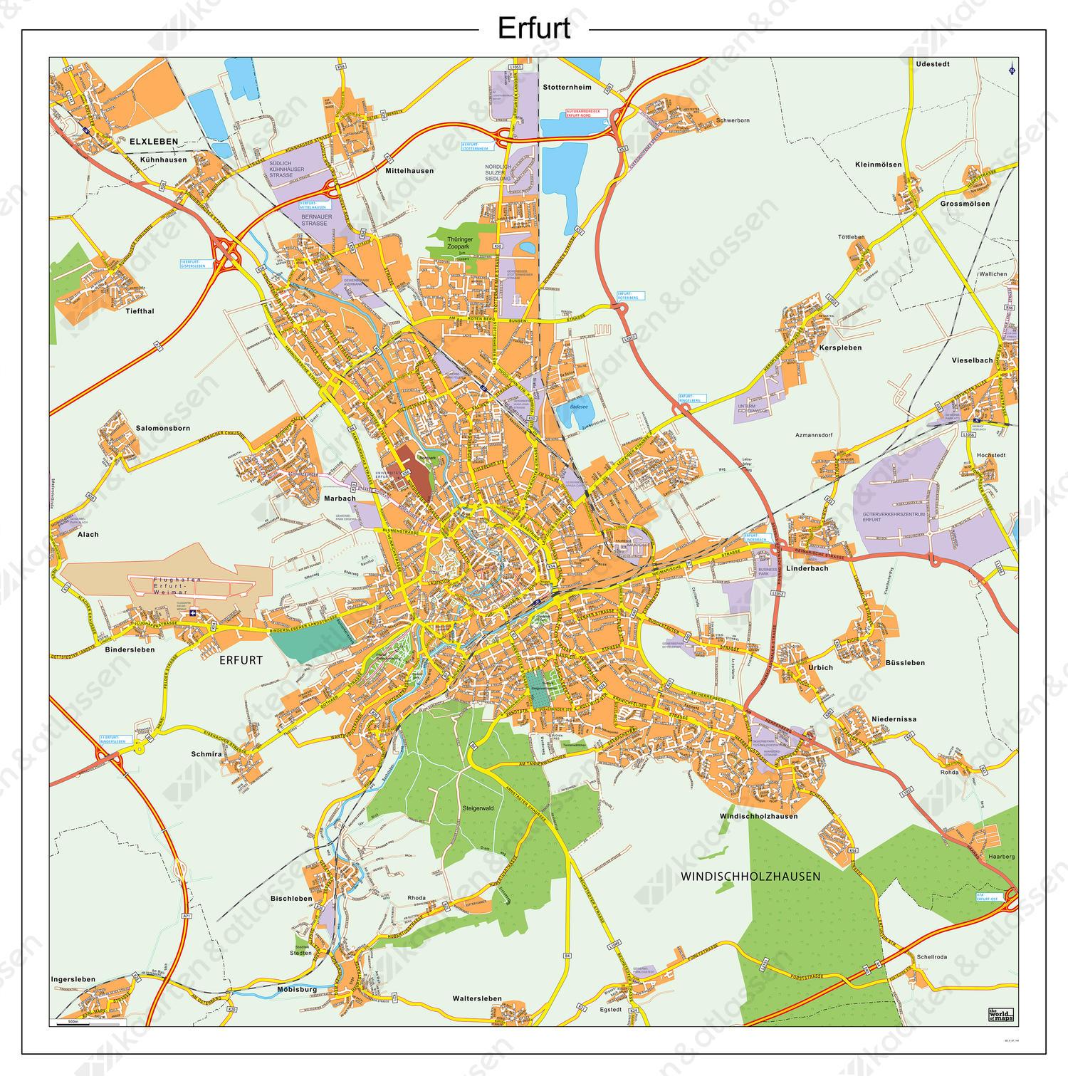 Digitale stadsplattegrond Erfurt 184