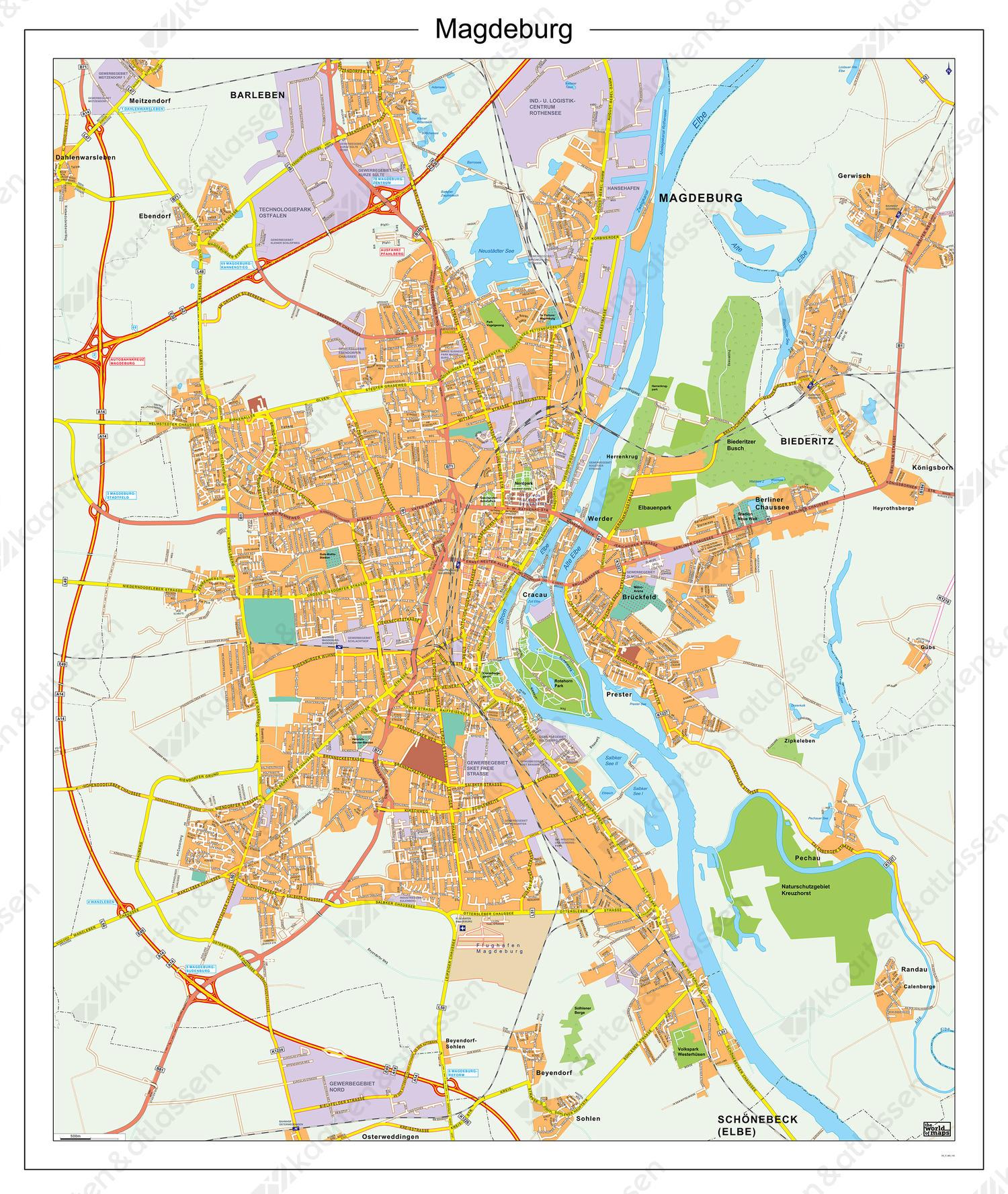 Digitale Kaart Maagdenburg / Magdeburg 183